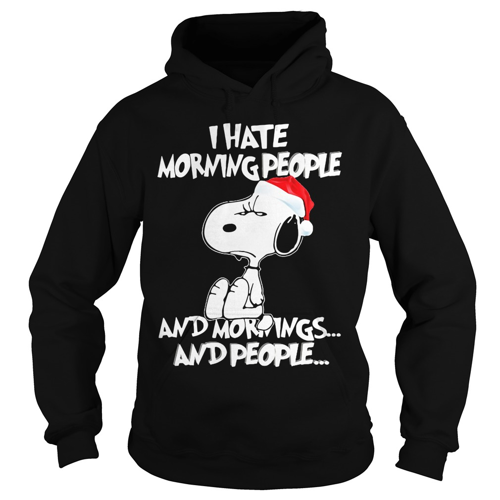 Snoopy Hate Morning People hoodie