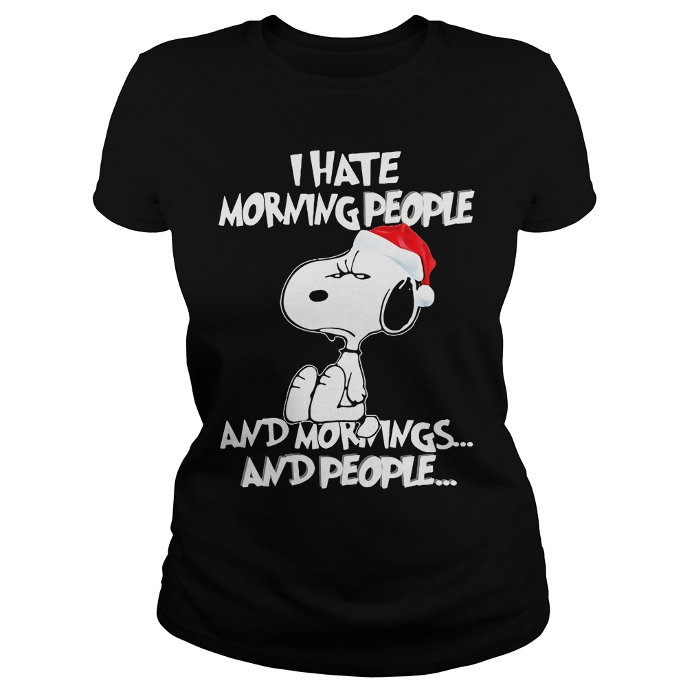 Snoopy Hate Morning People ladies tee