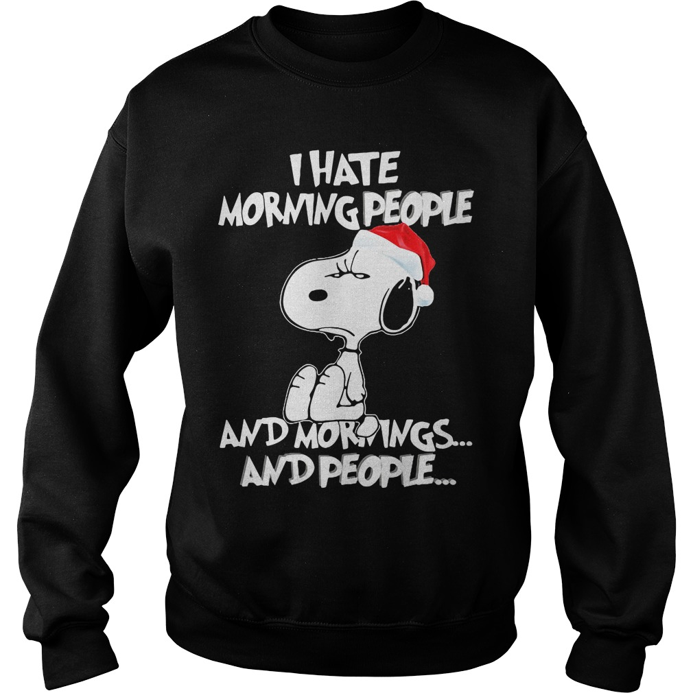 Snoopy Hate Morning People Sweatshirt