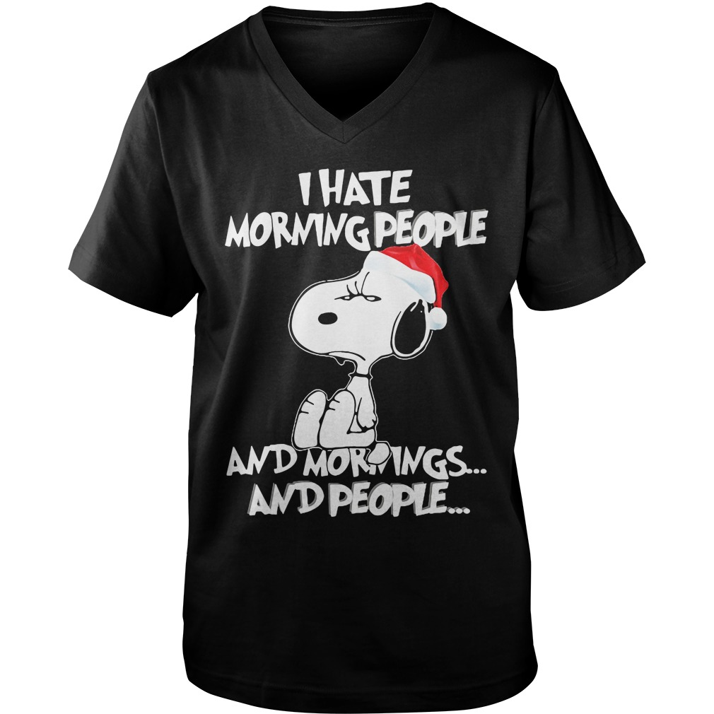 Snoopy Hate Morning People v-neck