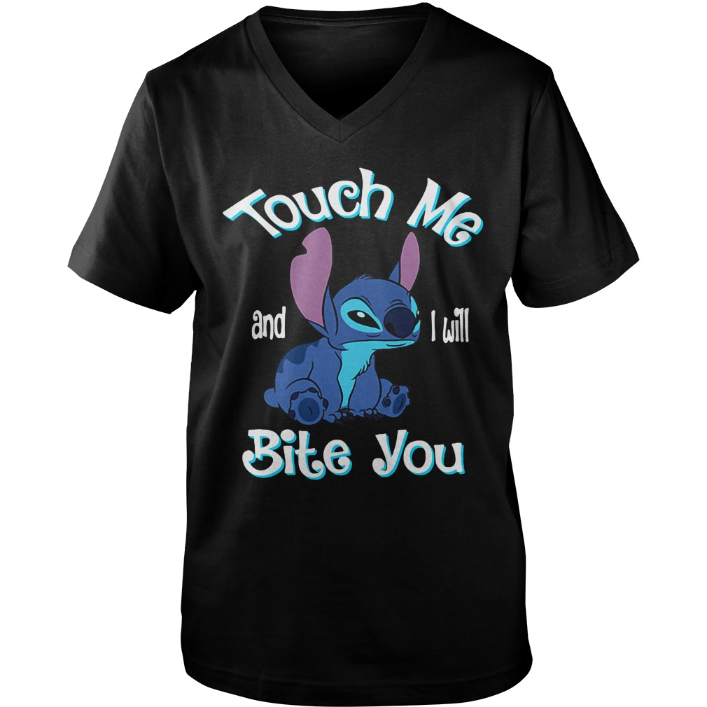 Stitch Touch Me And I Will Bite You v-neck