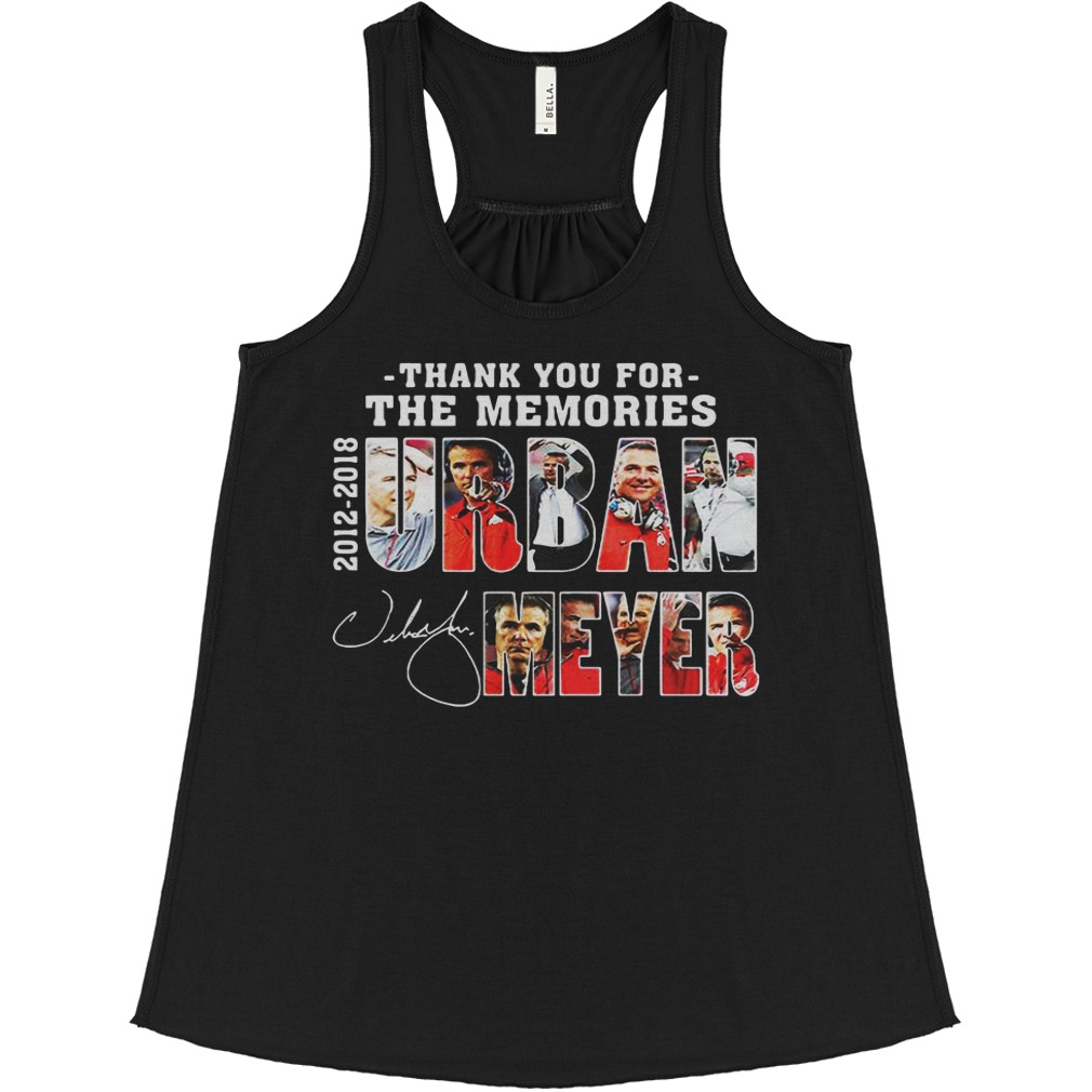 Thank You For The Memories Urban Meyer 2012 2018 Stan Lee Marvael flowy tank