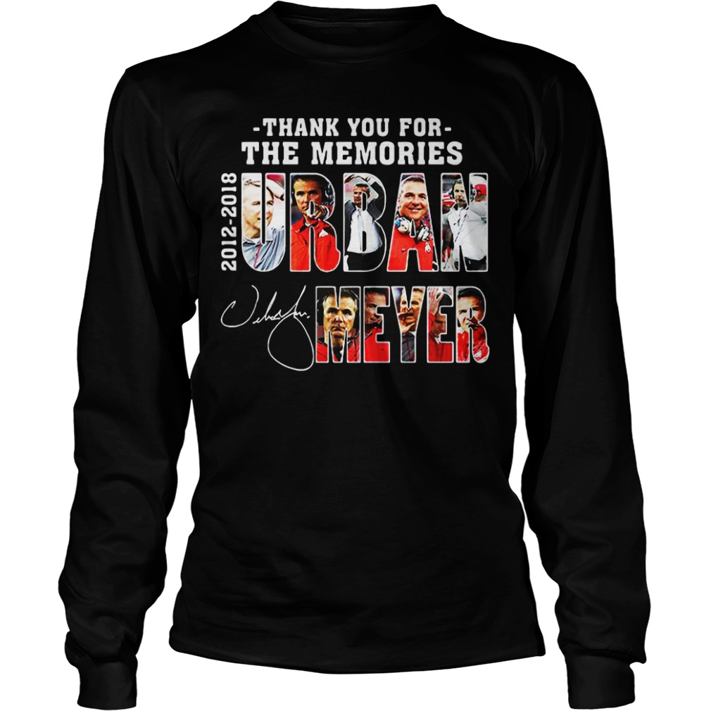 Thank You For The Memories Urban Meyer 2012 2018 Stan Lee Marvael long sleeve