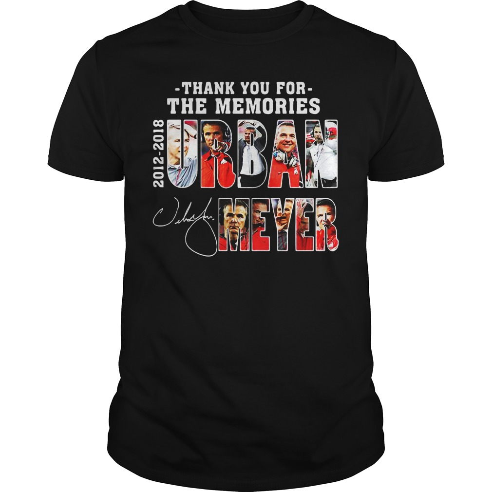 Thank You For The Memories Urban Meyer 2012 2018 Stan Lee Marvael unisex tee