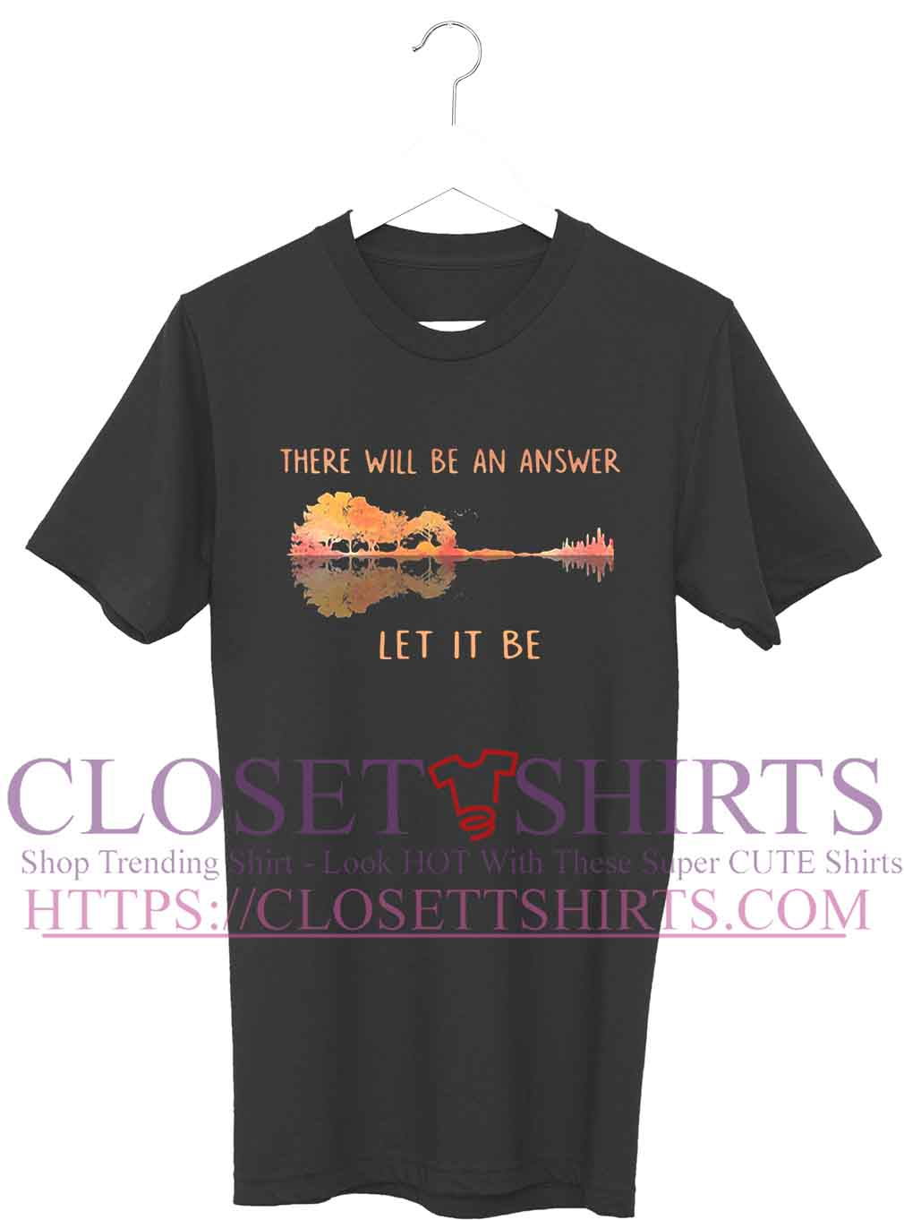 719e72bd6 There will be an answer let it be Guitar shirt, ladies, v-neck t ...