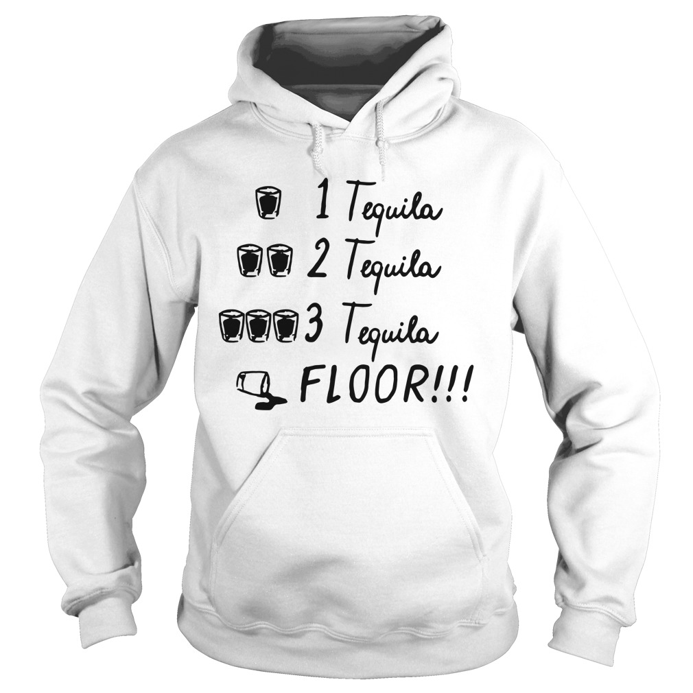 1 Tequila 2 Tequila 3 Tequila Floor Shirt Ladies V Neck