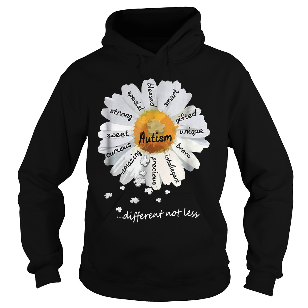 Autism Strong Sweet Different Not Less hoodie