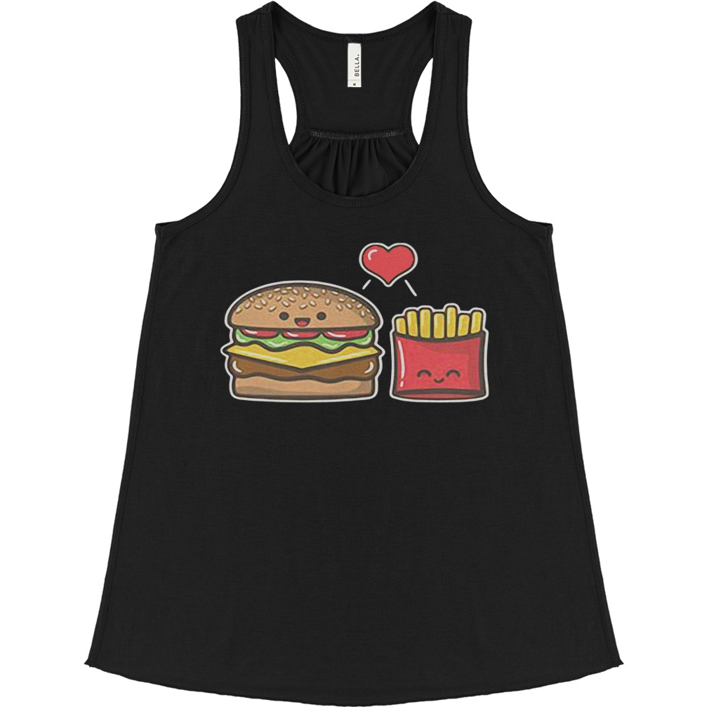 Burger And Fries flowy tank