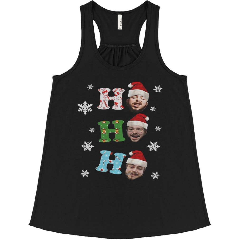 Post Malone Ho Ho Ho Merry Christmas flowy tank
