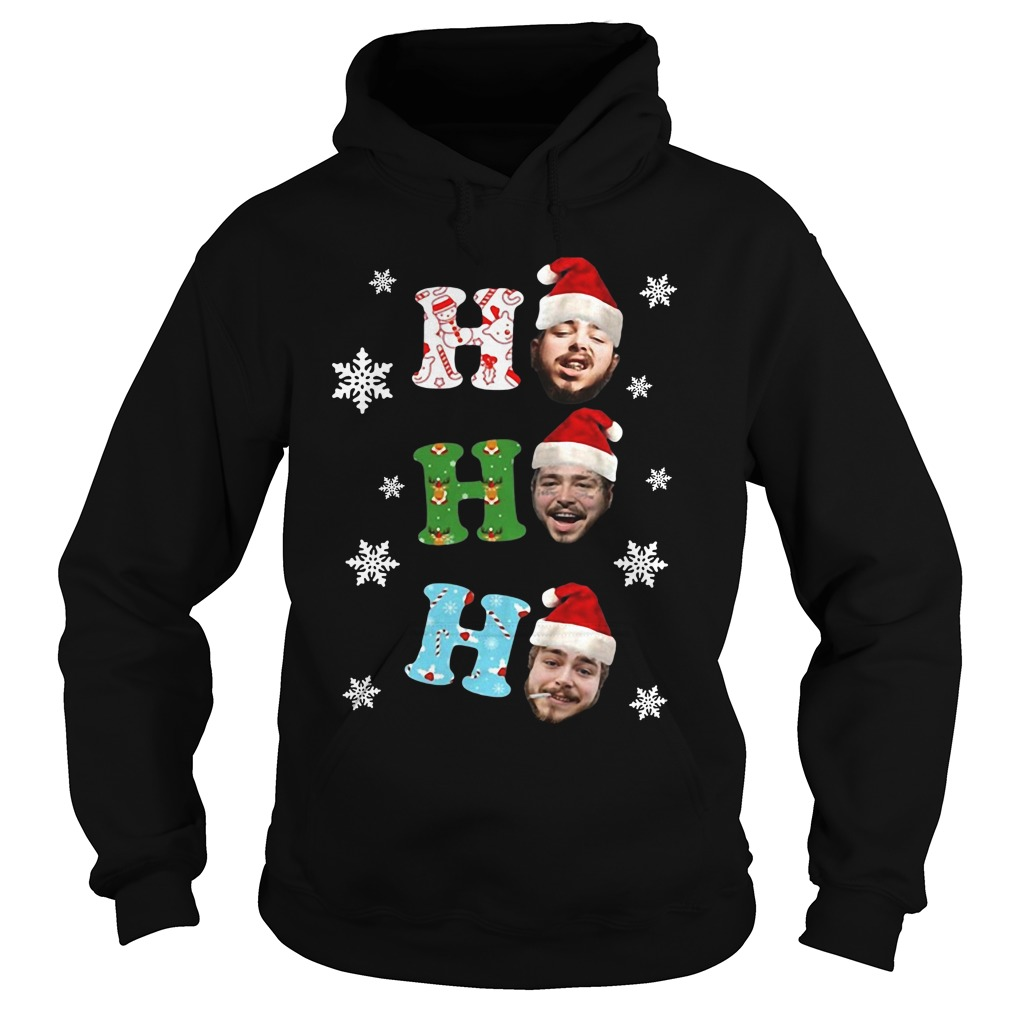Post Malone Ho Ho Ho Merry Christmas hoodie