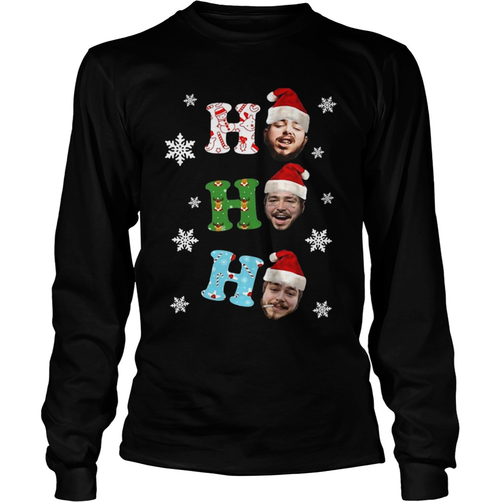 Post Malone Ho Ho Ho Merry Christmas long sleeve