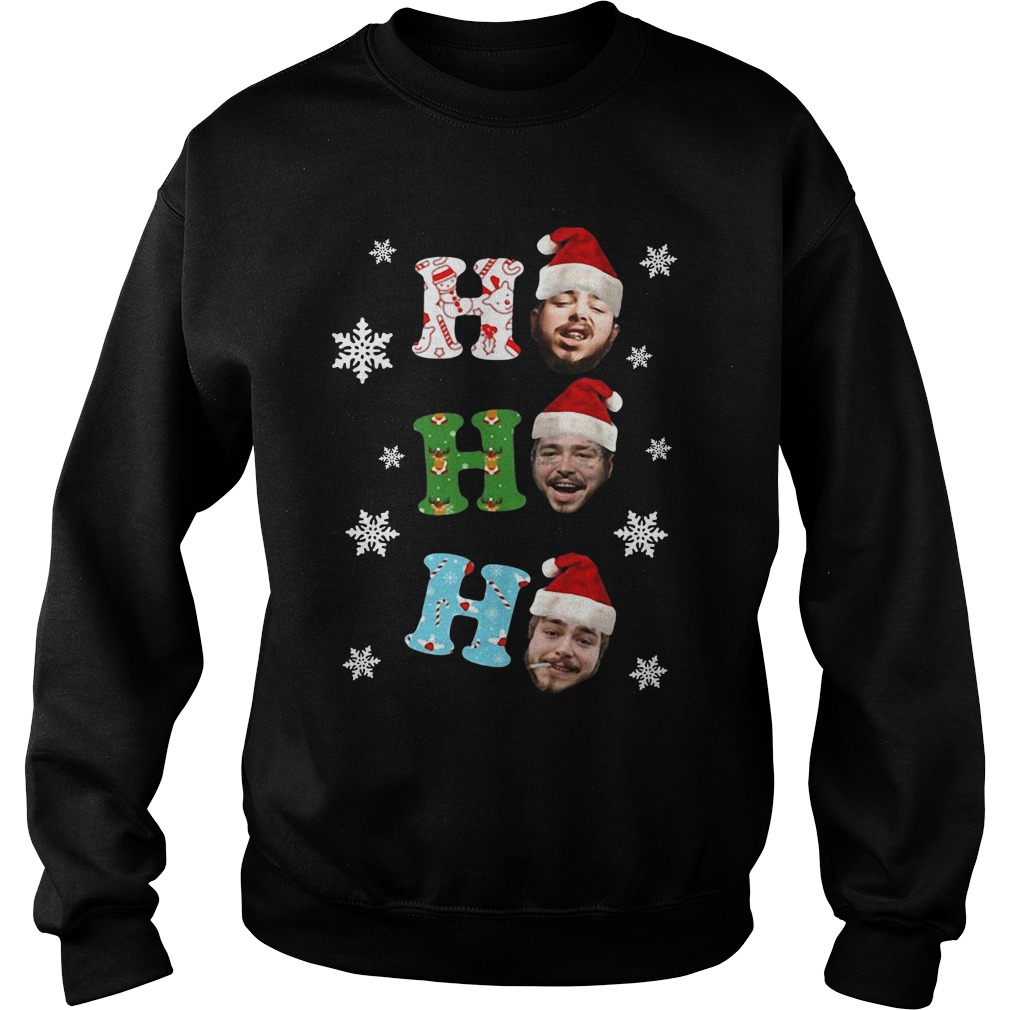 Post Malone Ho Ho Ho Merry Christmas Sweatshirt