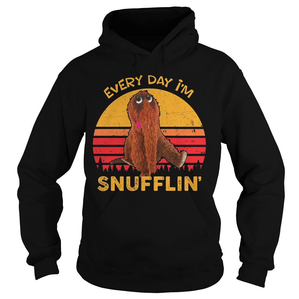 Sunset Retro Every Day I'm Snufflin hoodie