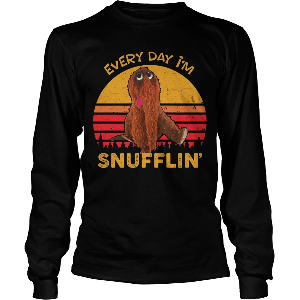 Sunset Retro Every Day I'm Snufflin long sleeve