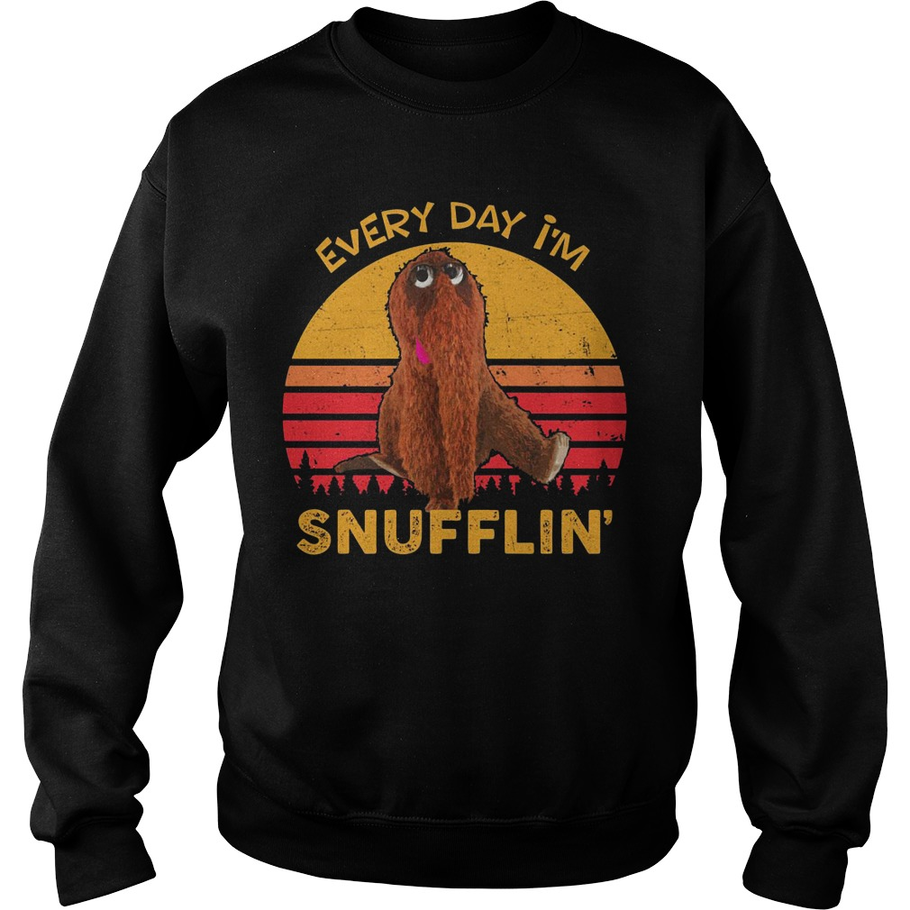 Sunset Retro Every Day I'm Snufflin Sweatshirt