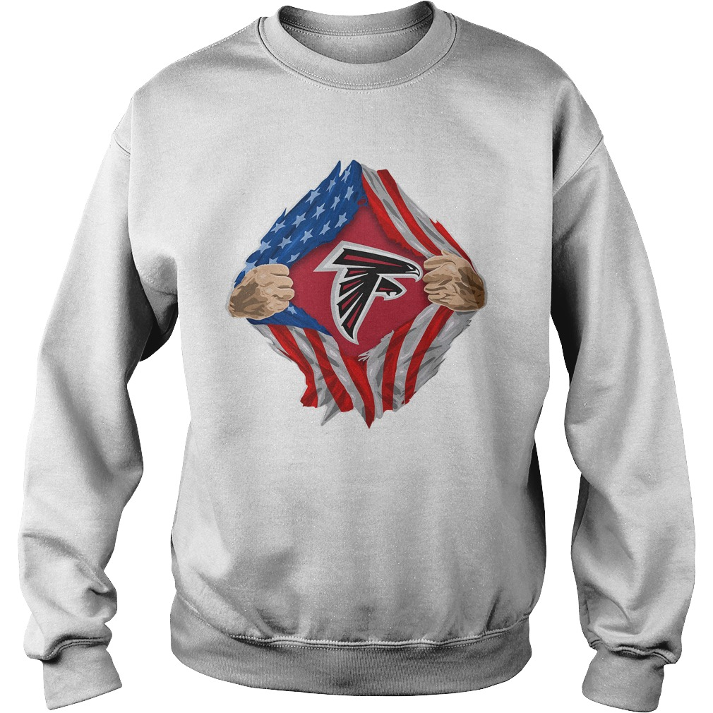 Atlanta Falcons Torn American Flag sweatshirt