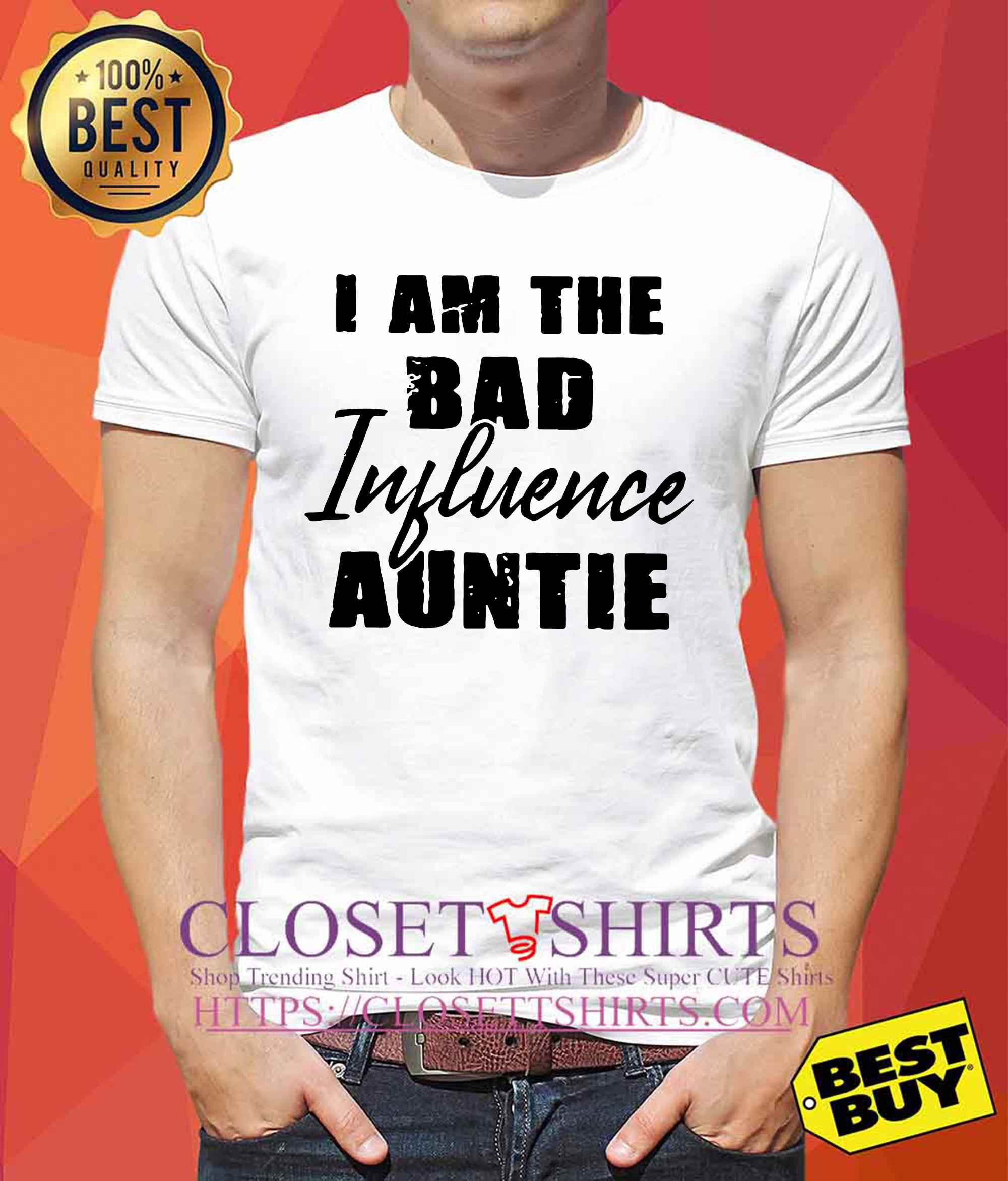 I Am The Bad Influence Auntie v-neck