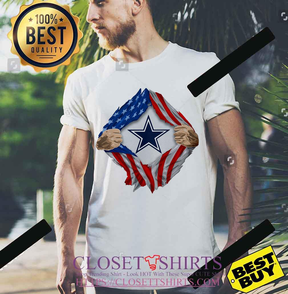 aceb6b3b1e2 Dallas Cowboys torn American flag shirt, ladies tee, tank top, and v ...