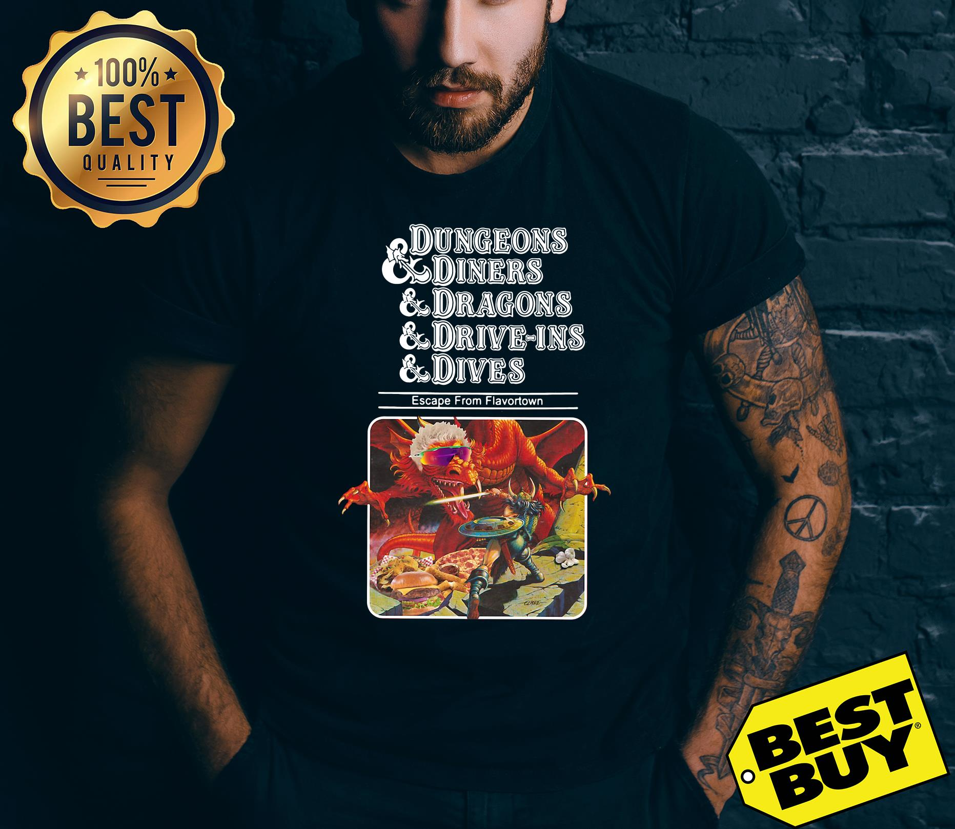 Dungeons & Diners & Dragons & Drive Ins & Dives: Escape From Flavortown Guys v neck