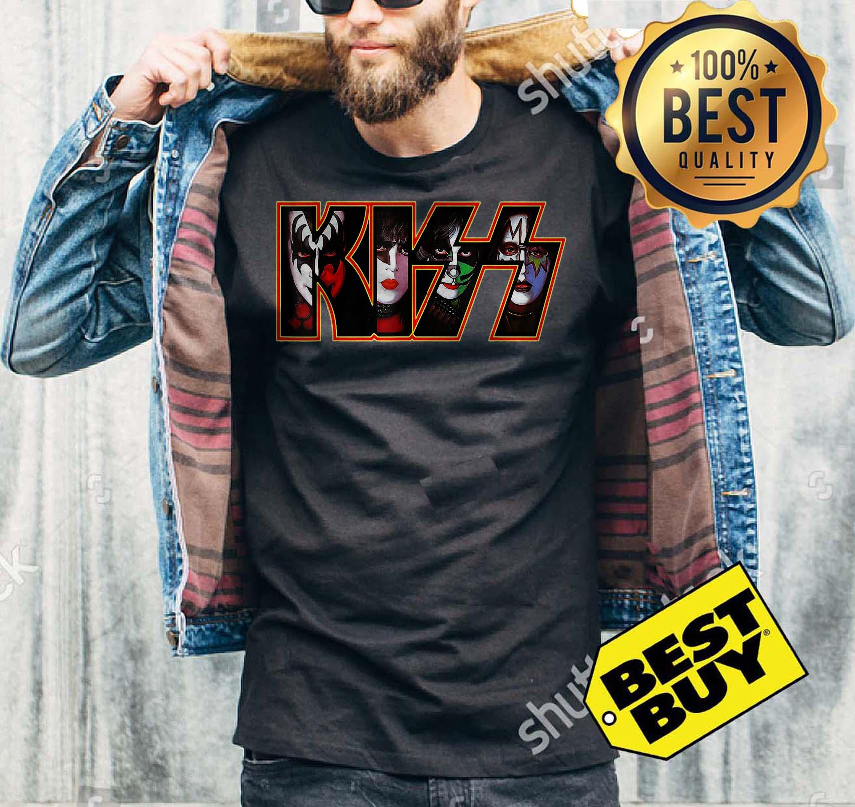 Kiss Button Down 2001 Funny tank top