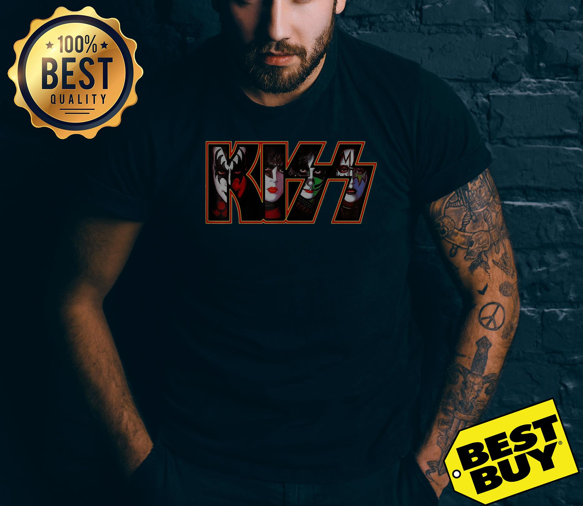 Kiss Button Down 2001 Funny v-neck