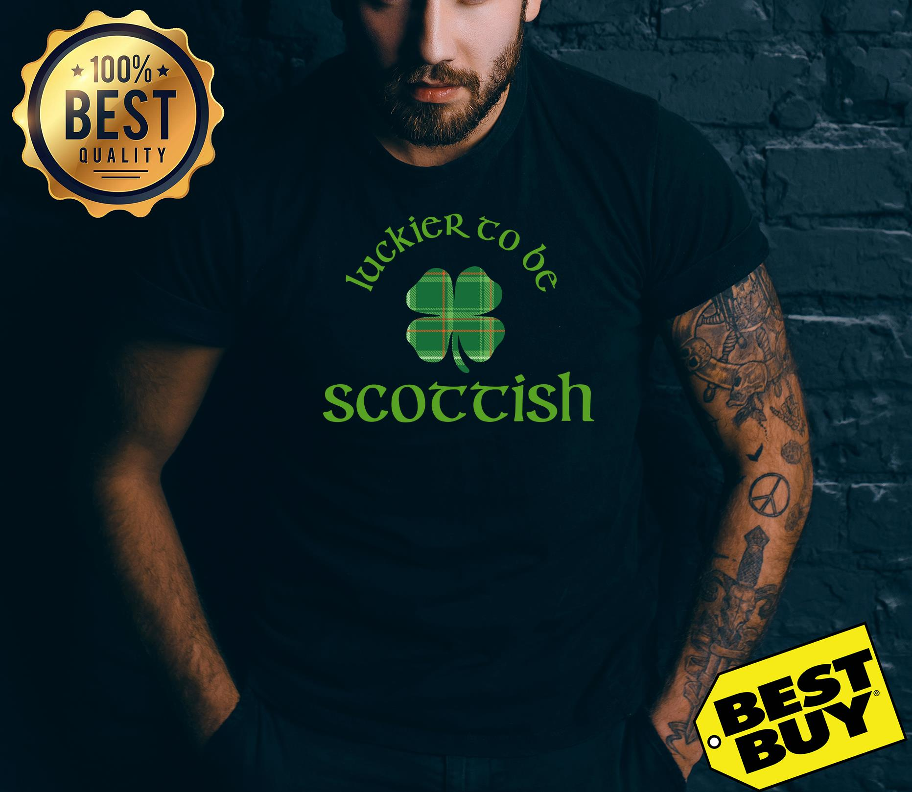 Luckier To Be Scottish Shamrock St.patrick's Day tank top