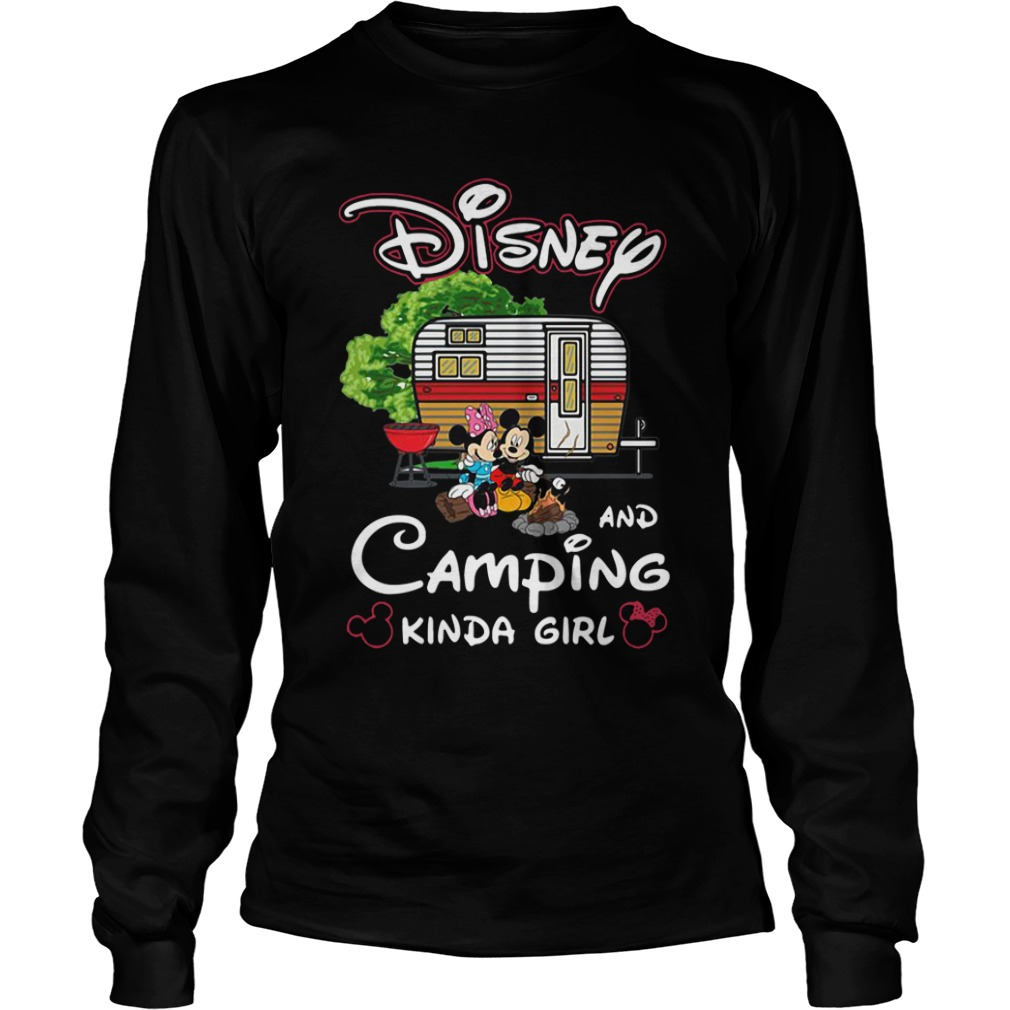 mickey minnie disney camping kinda girl long sleeve - Mickey And Minnie Disney and camping kinda girl shirt