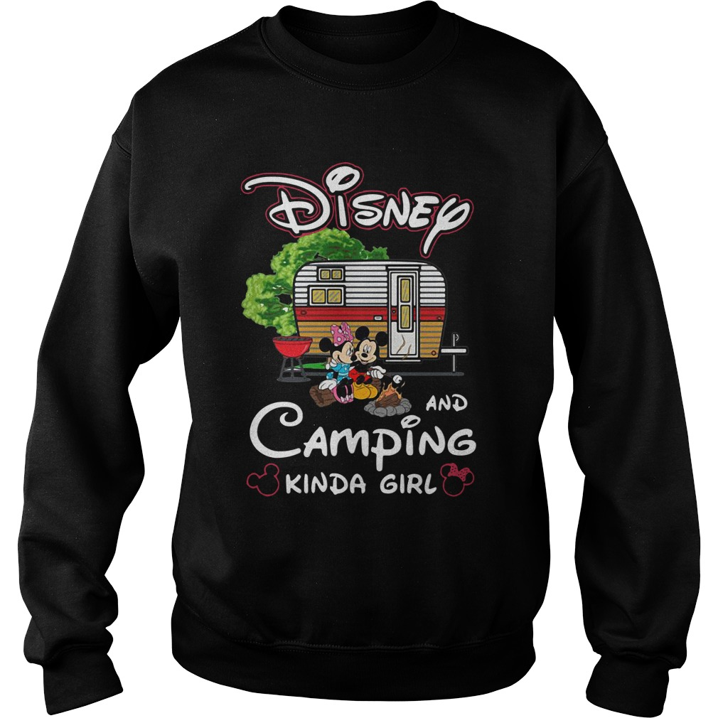 mickey minnie disney camping kinda girl sweatshirt - Mickey And Minnie Disney and camping kinda girl shirt