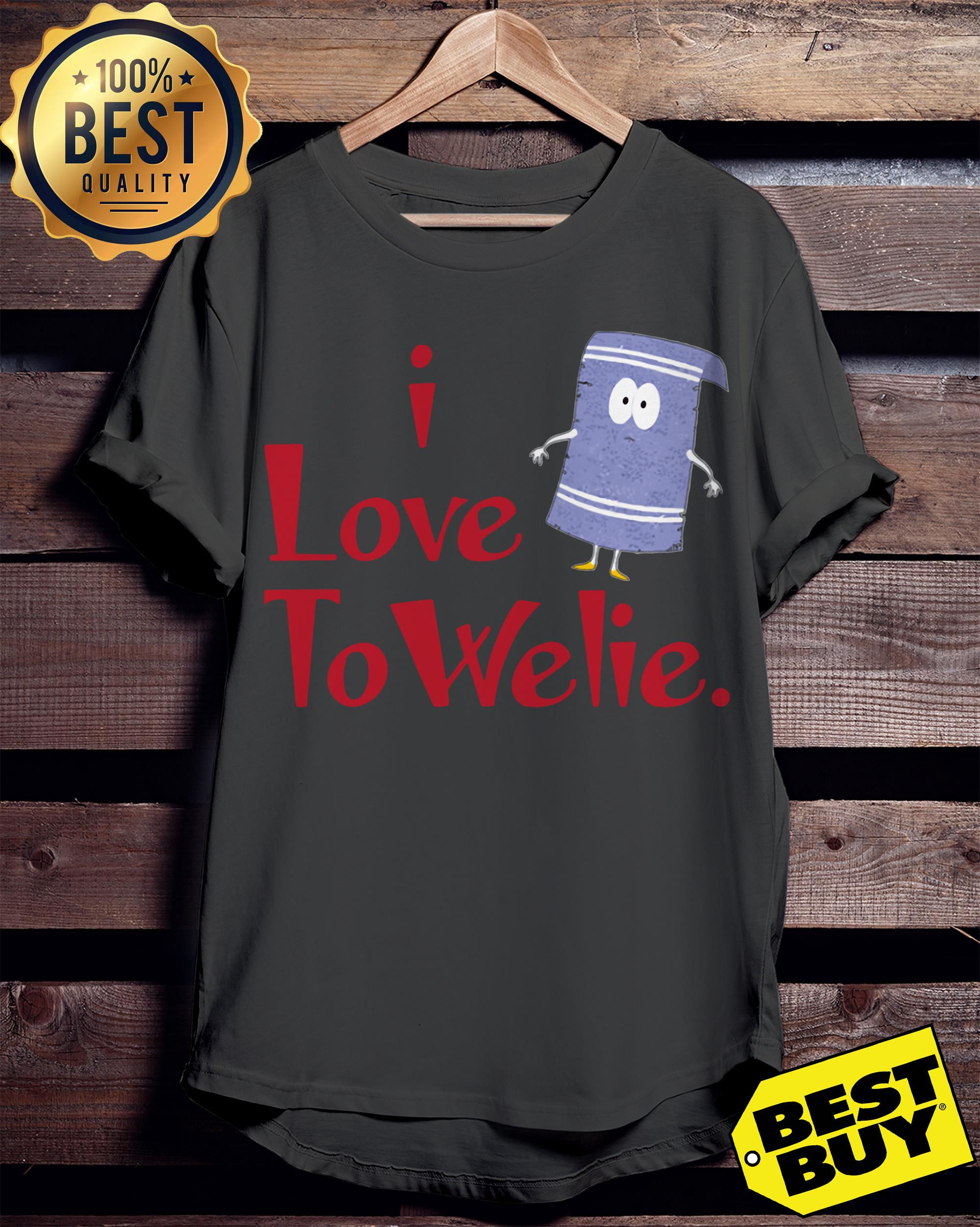 Official I Love Towelie Funny ladies tee
