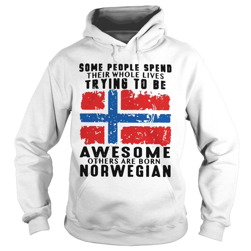People Spend Whole Lives Trying Awesome Others Born Norwegian Hoodie