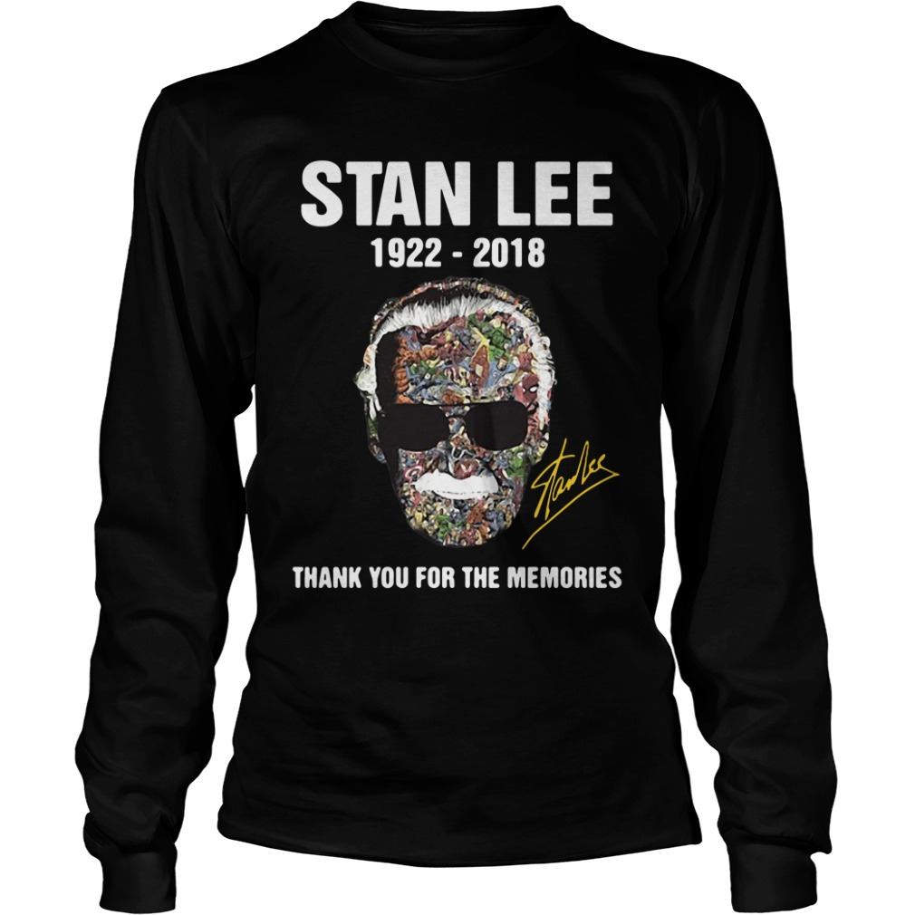 Stan Lee Thank For The Memories 1922 2018 long sleeve