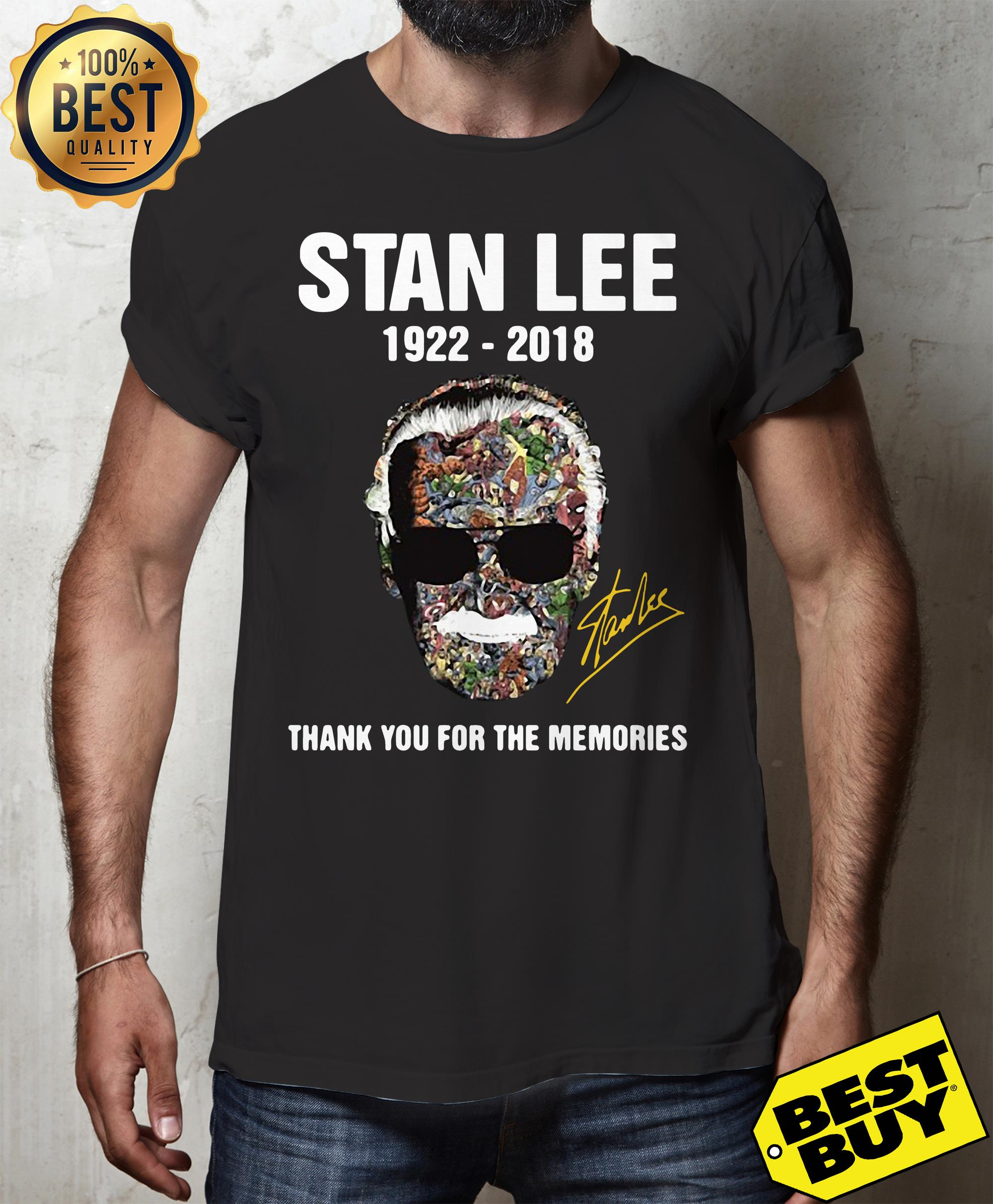 Stan Lee Thank For The Memories 1922 2018 v-neck