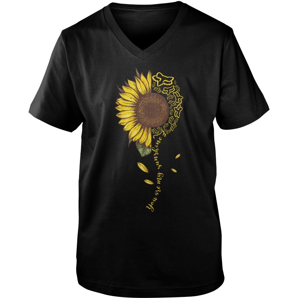 Sunflower Fox Racing You Are My Sunshine v-neck