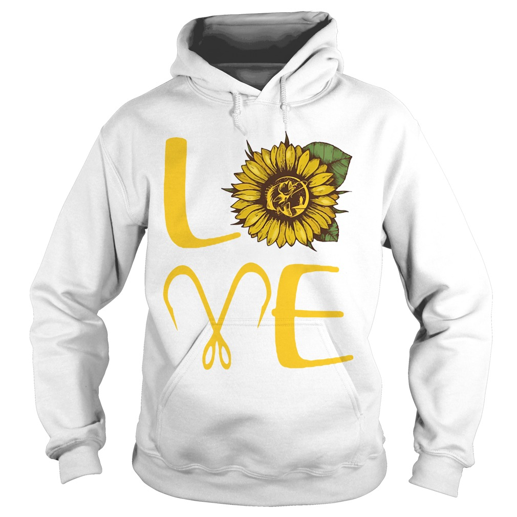 Sunflower Love Fishing Funny hoodie