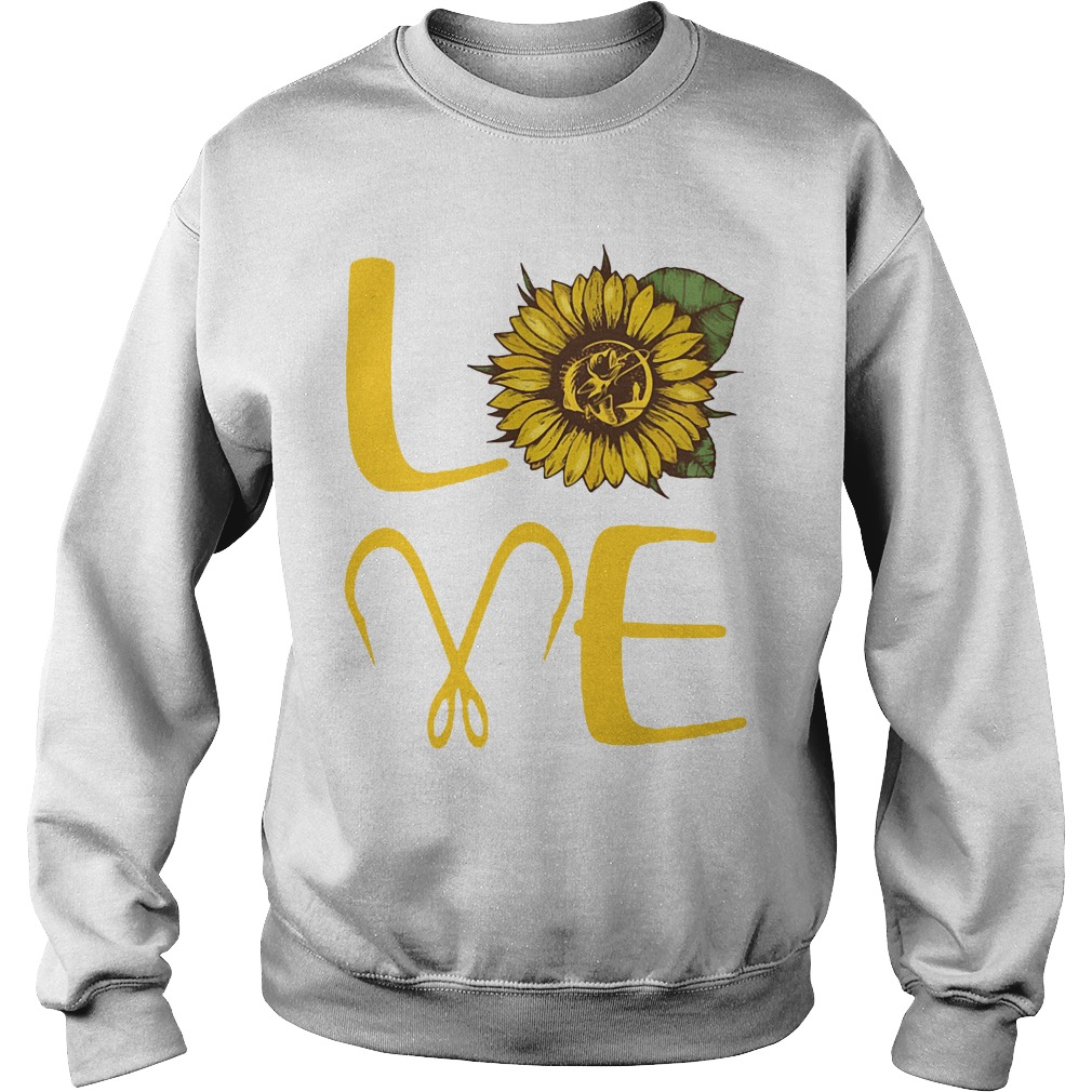 Sunflower Love Fishing Funny sweatshirt