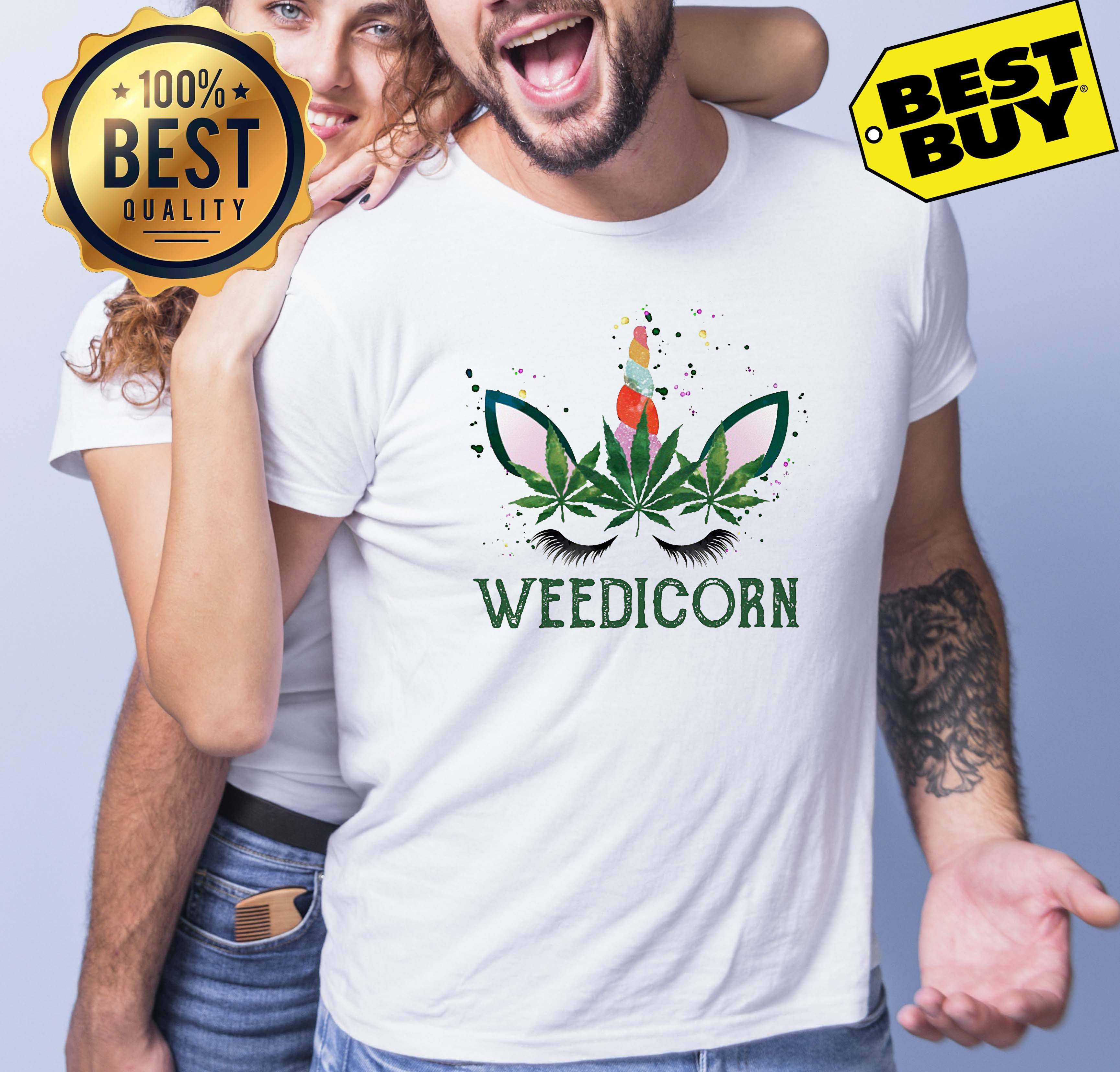 Weed Unicorn Weedicorn Funny tank top
