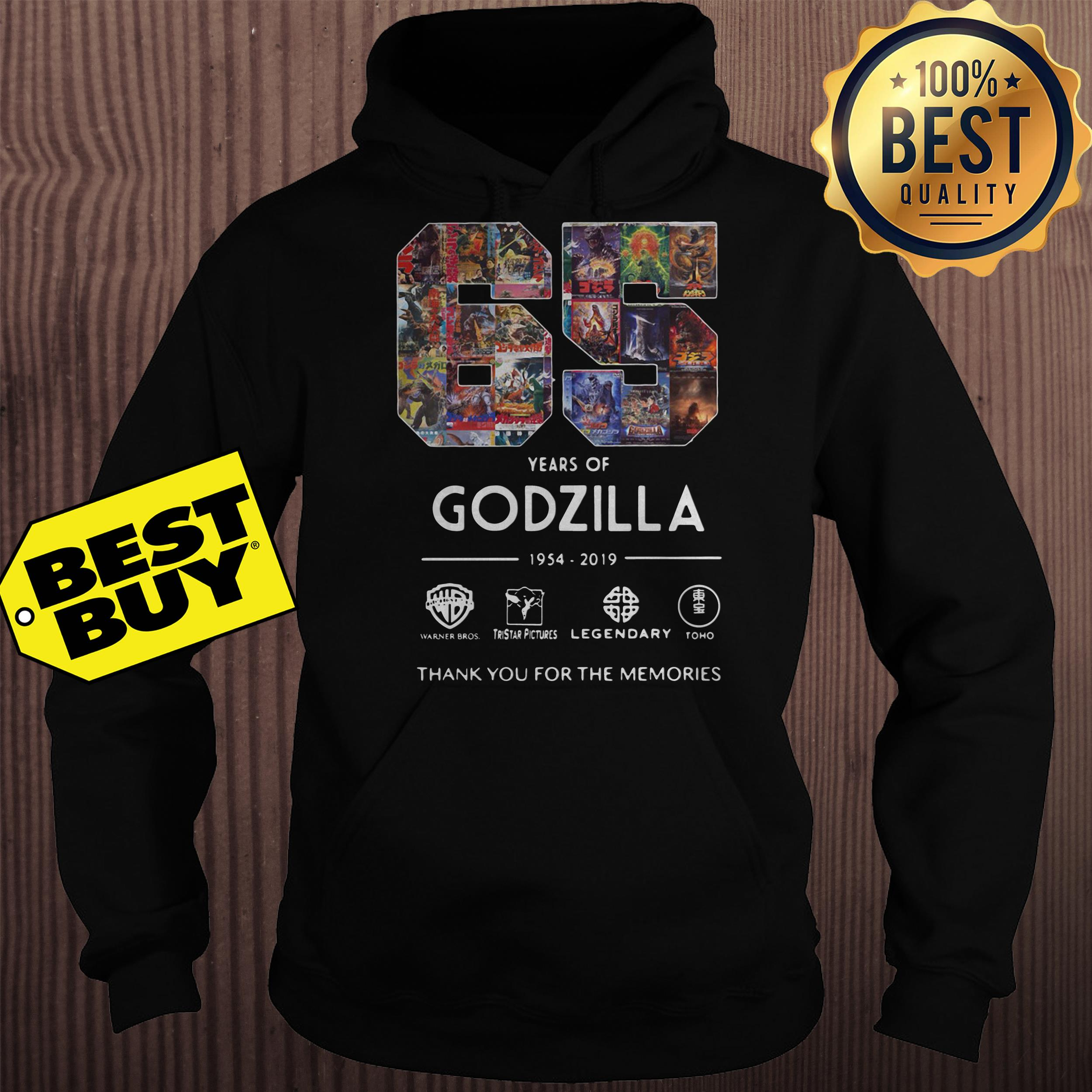 65 Years Godzilla Thank Memories hoodie