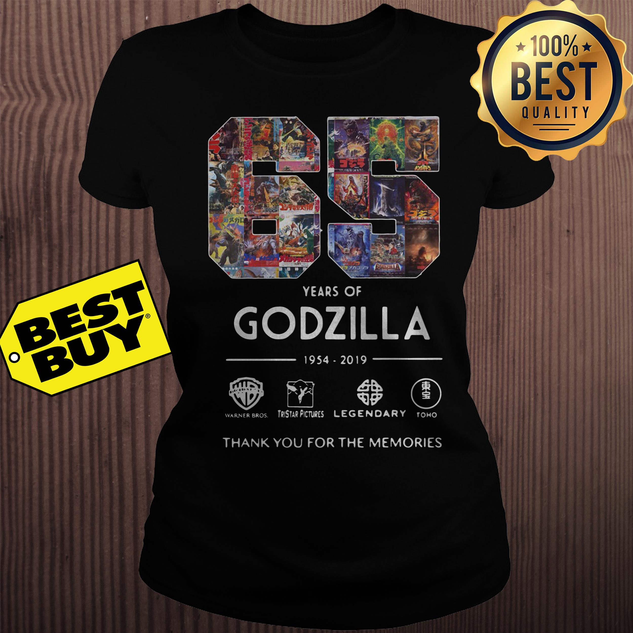 65 Years Godzilla Thank Memories ladies tee