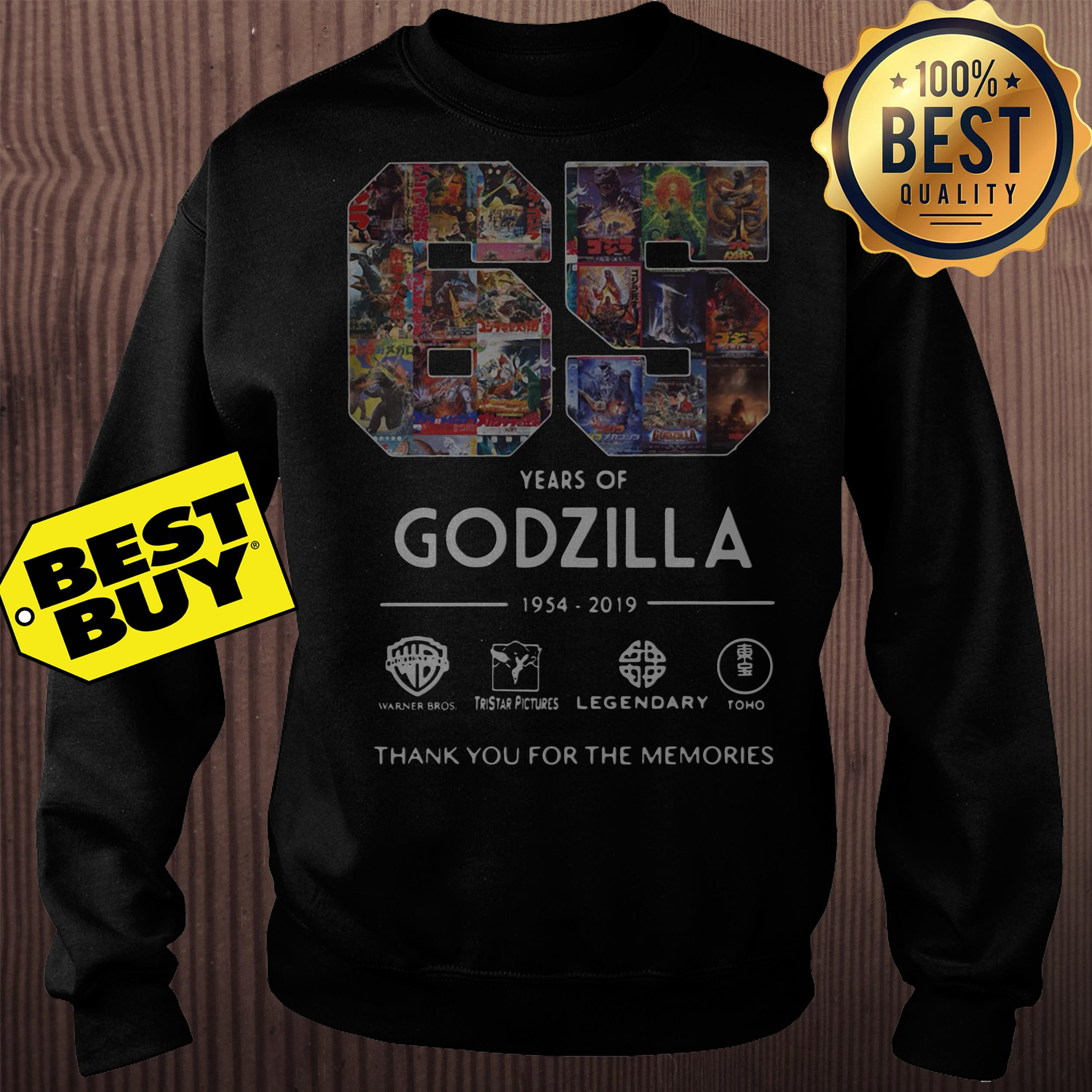 65 Years Godzilla Thank Memories Sweatshirt