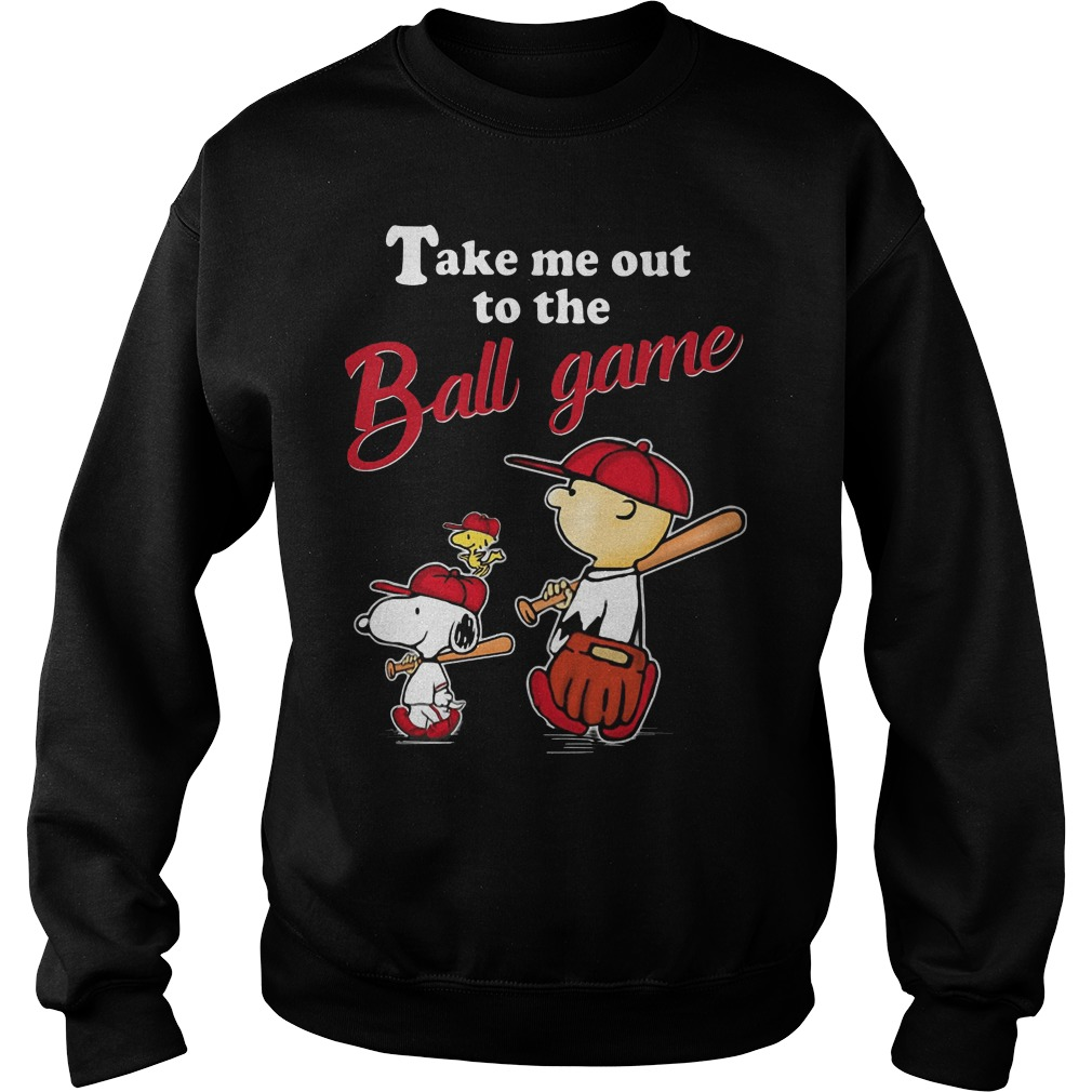 Charlie Brown Snoopy And Woodstock Take Me Out To The Ball Game Shirt