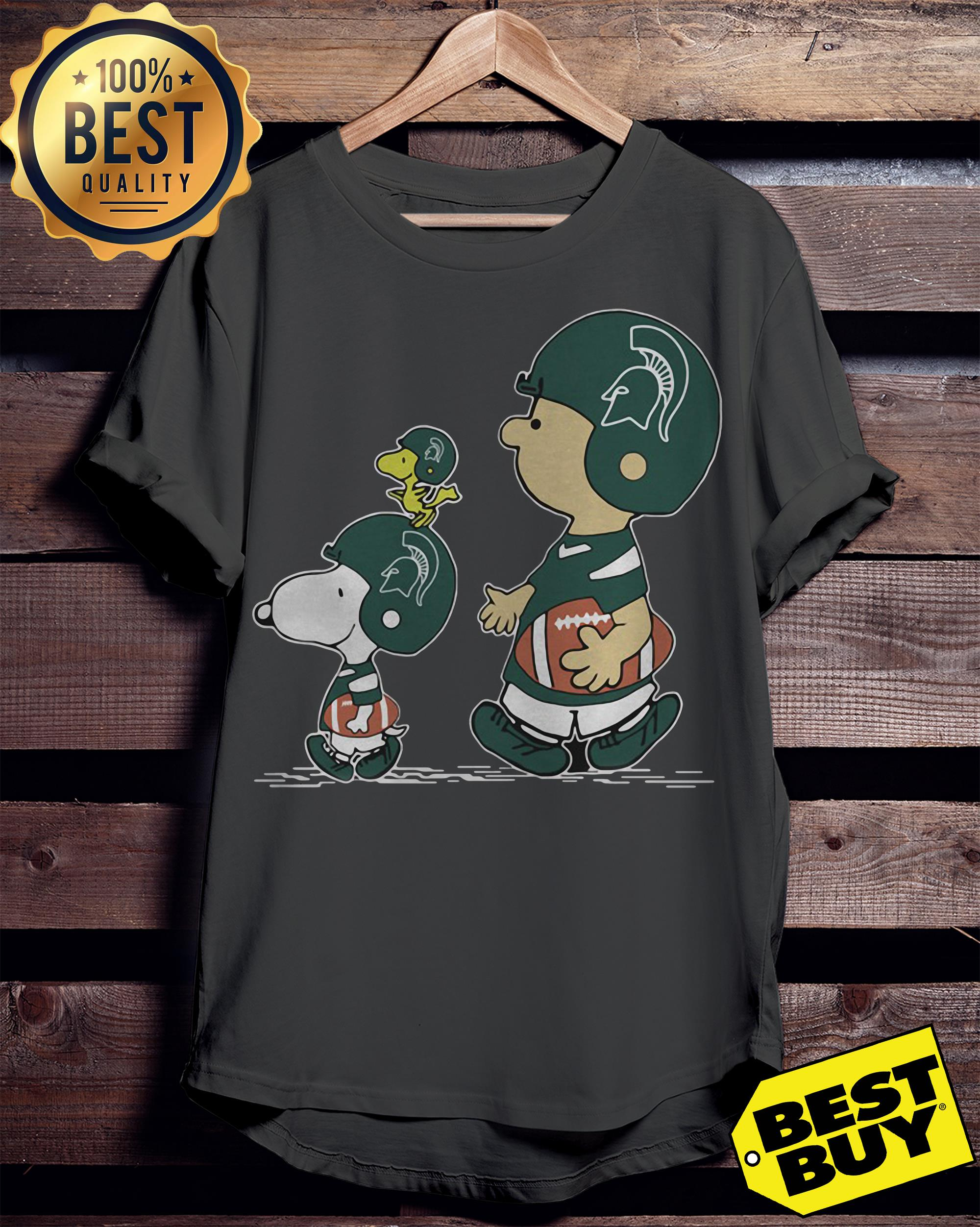 Green Bay Packers Charlie Brown Snoopy And Woodstock ladies tee