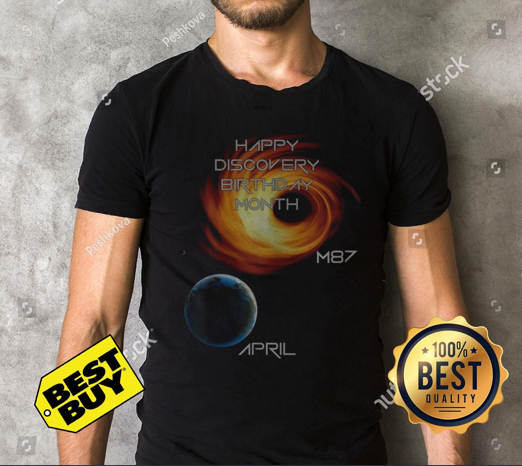Happy Discovery Birthday Month First Picture Black Hole M87 Galaxy April 10 V Neck
