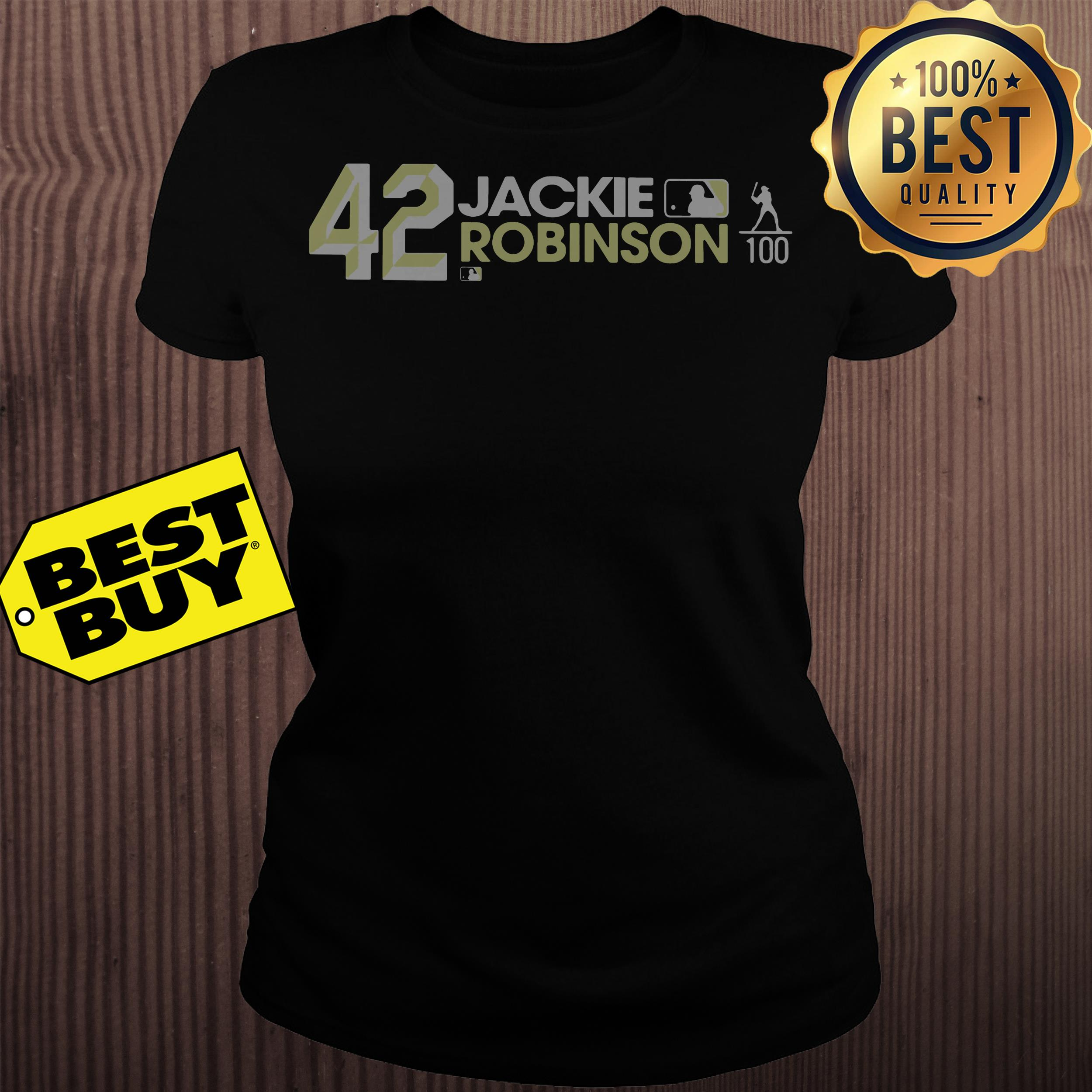 Jackie Robinson 42 Los Angeles Dodgers Ladies Tee