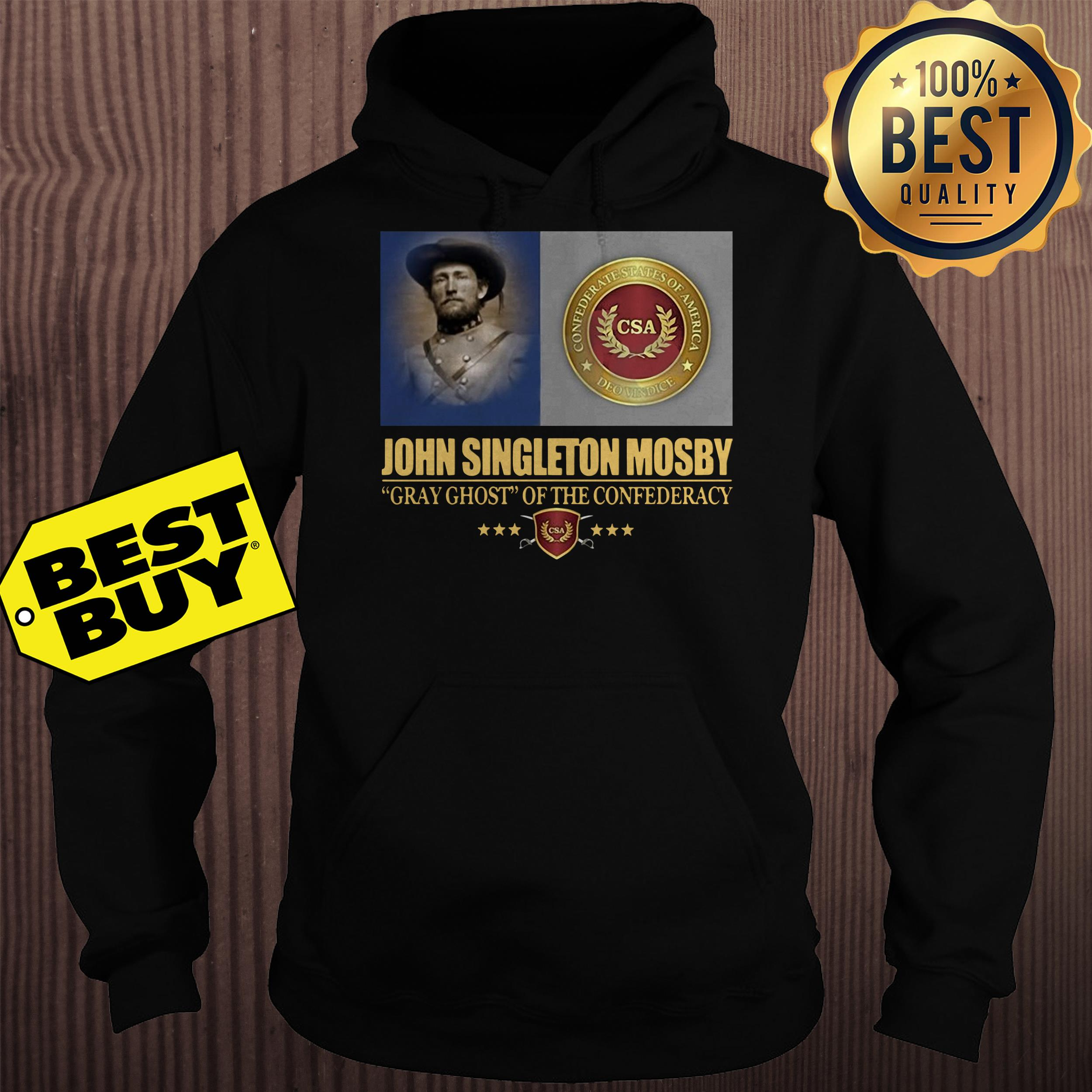 John Singleton Mosby Gray Ghost Of The Confederacy hoodie
