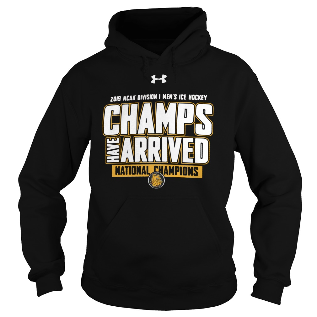 Minnesota Duluth Bulldogs 2019 Ncaa Mens Ice Hockey National Champions Locker Room Hoodie