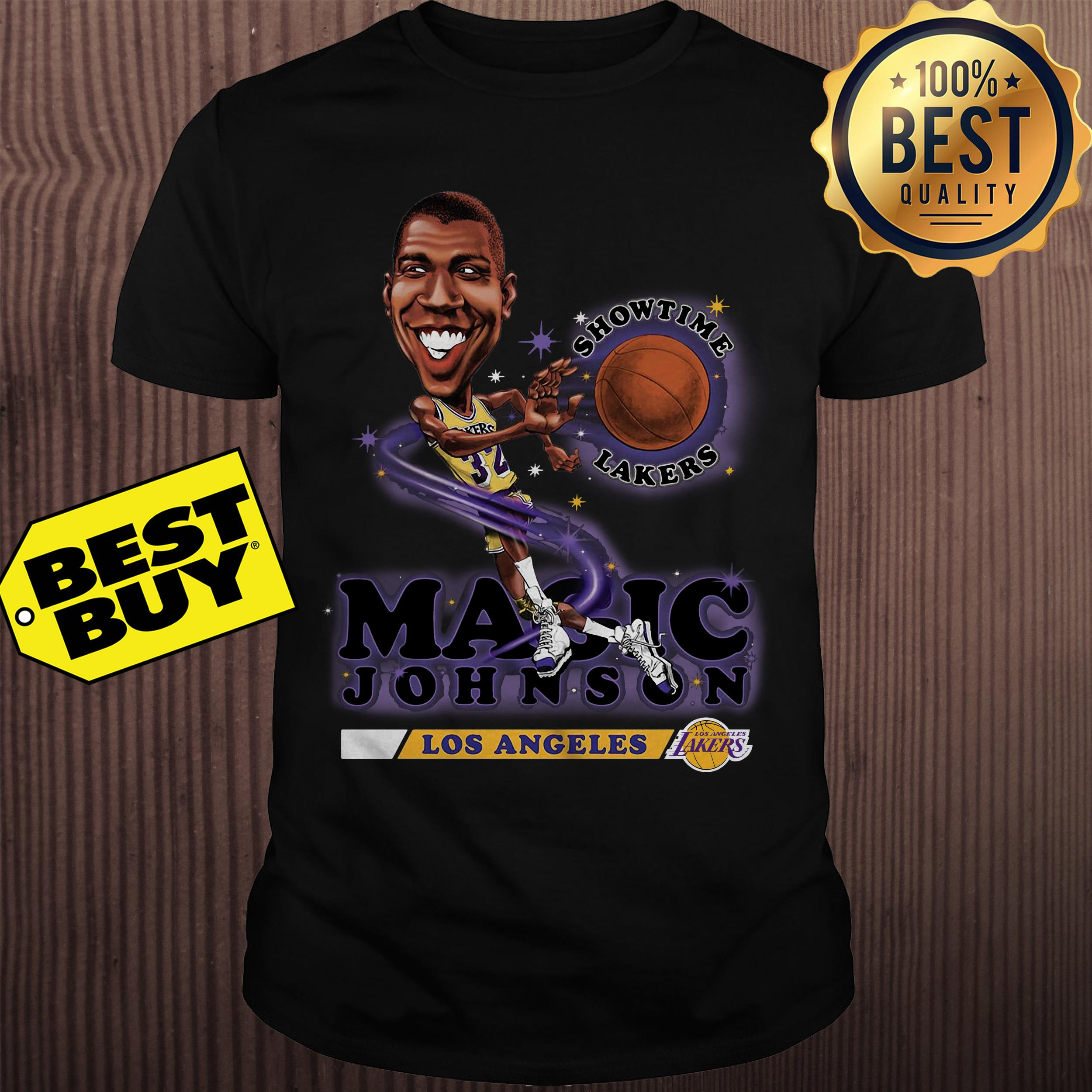 new product 2beb2 939ab Mitchell & Ness Magic Johnson Los Angeles Lakers Black Salem ...