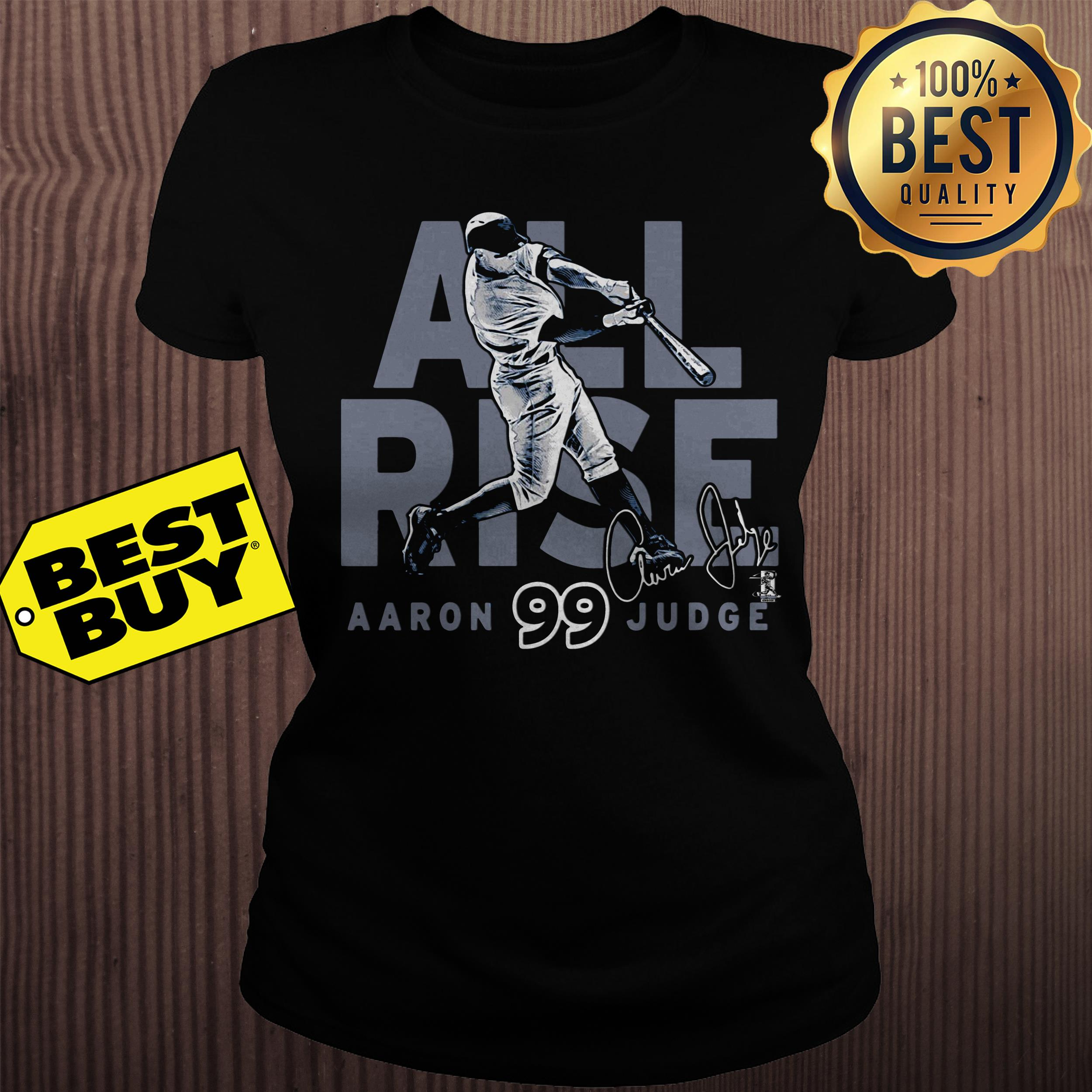 New York Yankees Aaron Judge All Rise Ny Jersey ladies tee