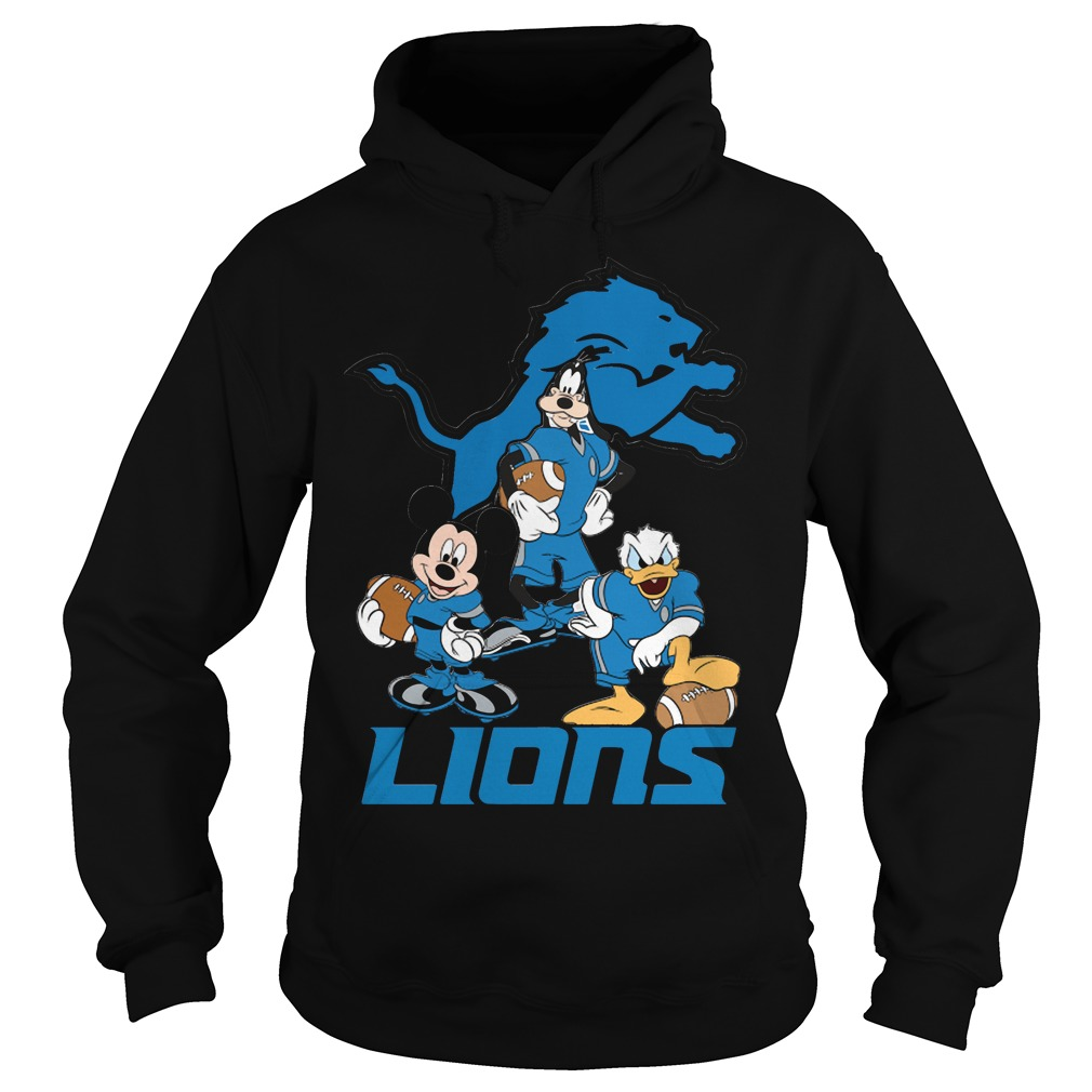 Nfl Detroit Lions Mickey Mouse Donald Duck Goofy Football hoodie