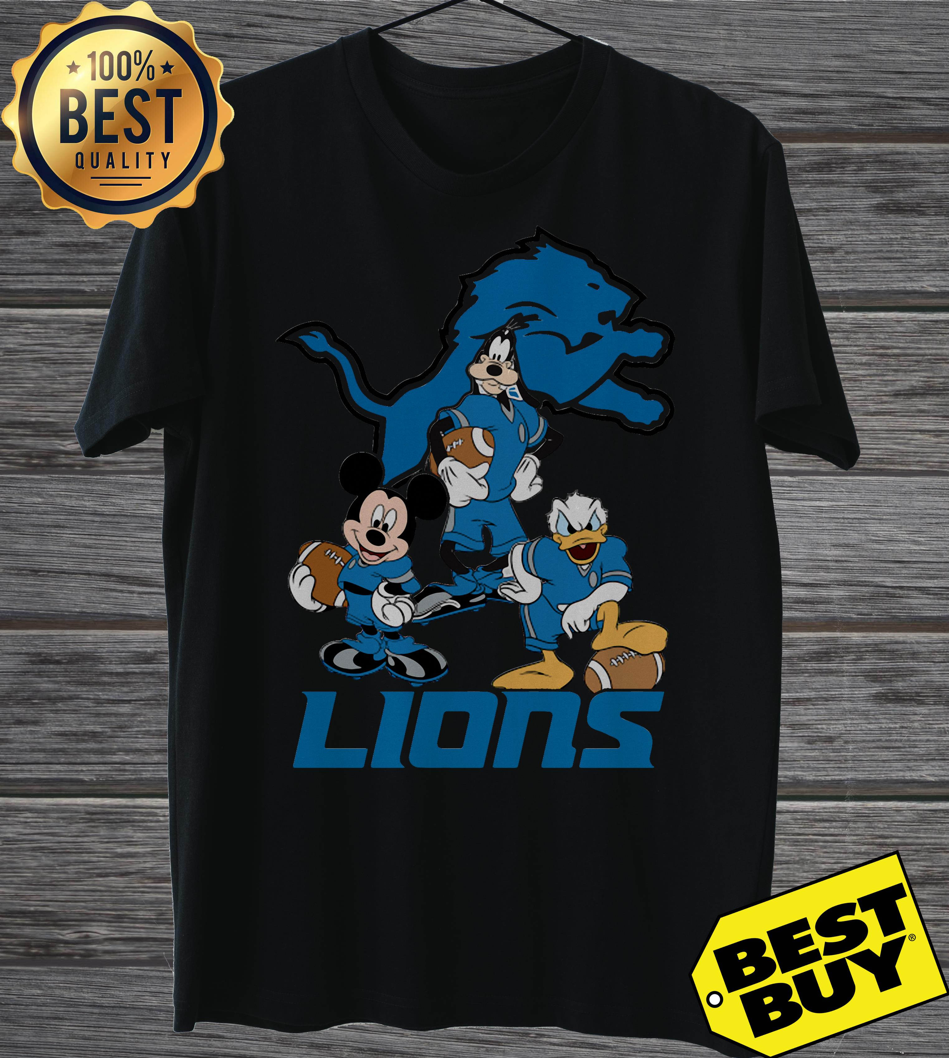 Nfl Detroit Lions Mickey Mouse Donald Duck Goofy Football tank top