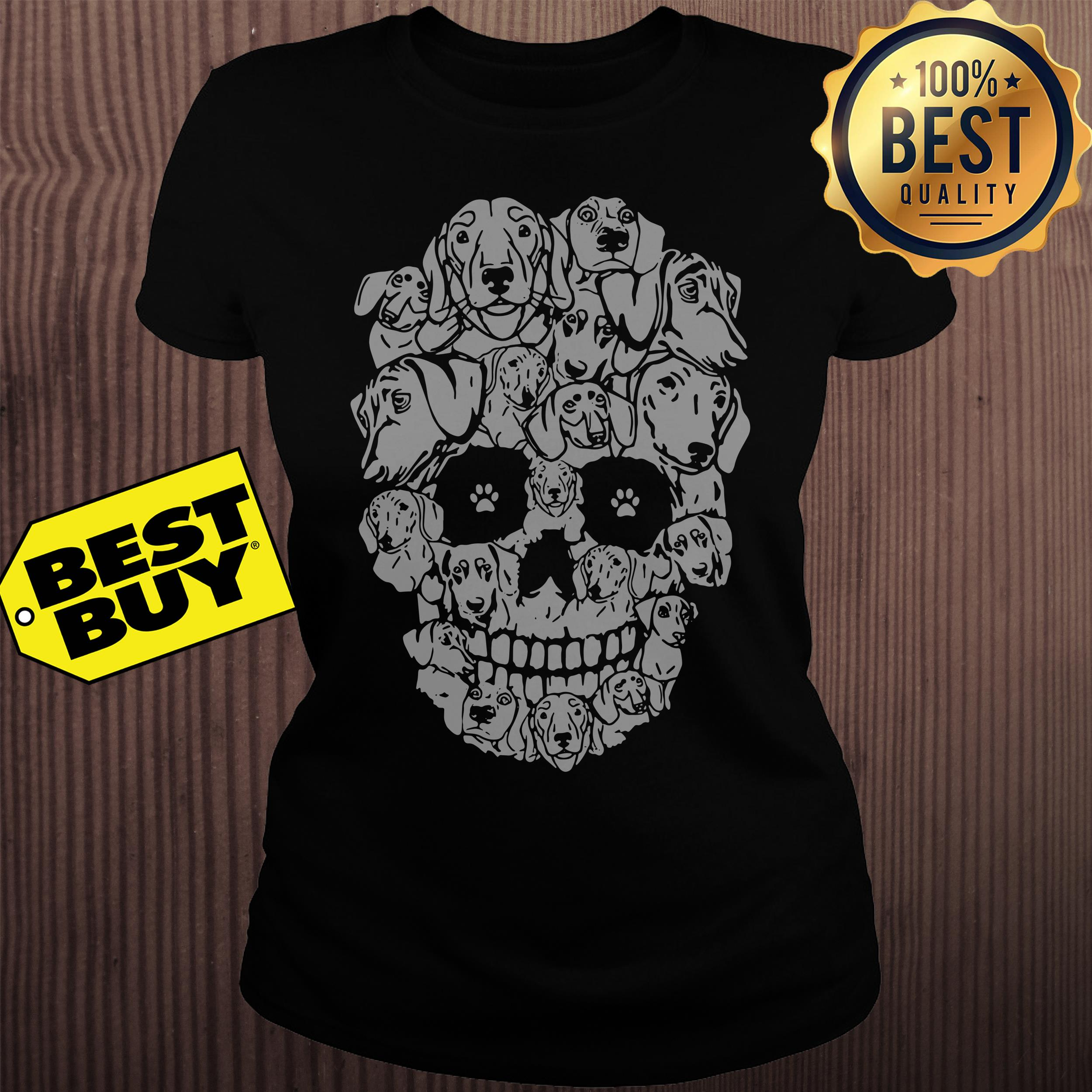 Official Dachshund Skull Version ladies tee